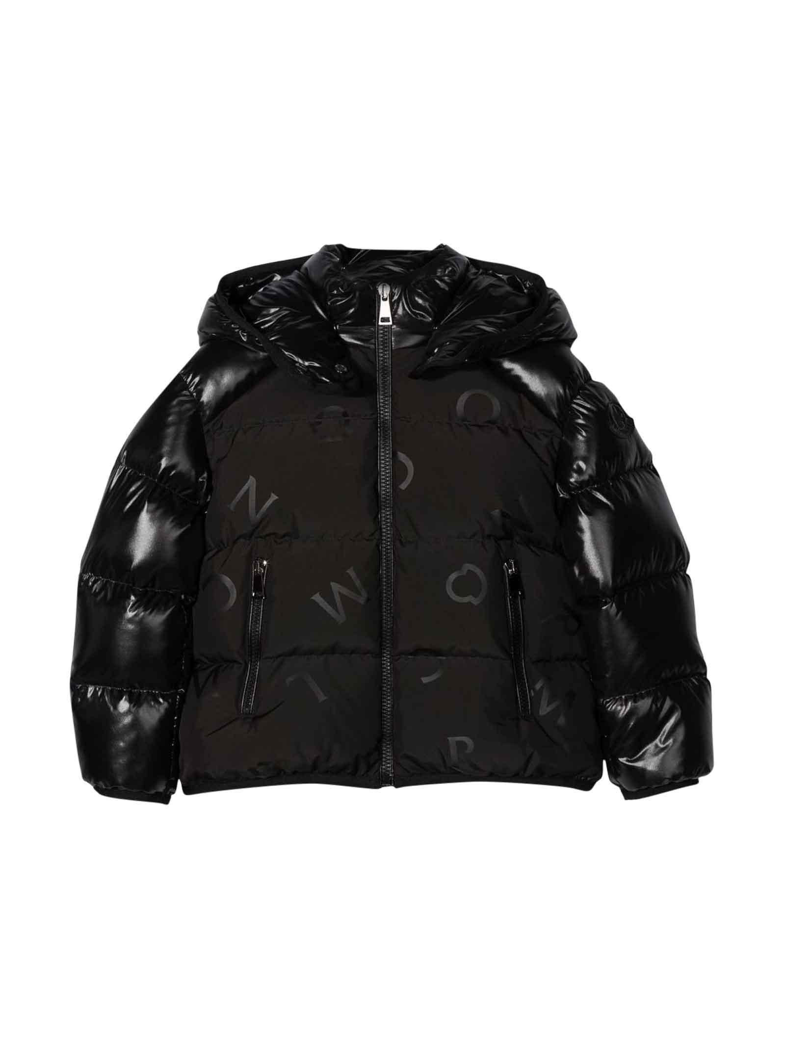 Moncler Moncler Enfant Unisex Black Down Jacket
