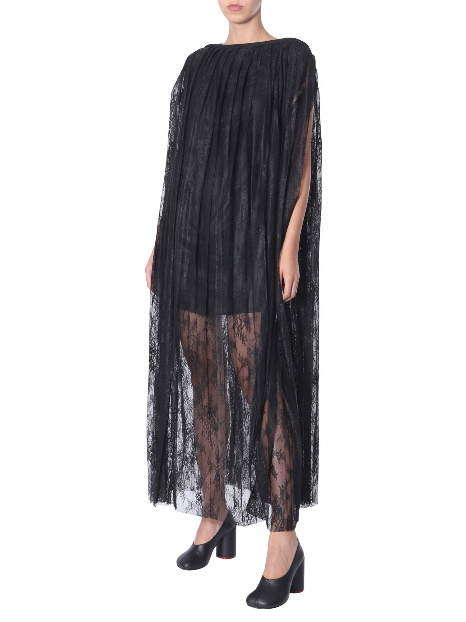 MM6 Maison Margiela Pleated Lace Dress