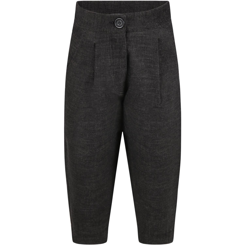 Caffe dOrzo Gray dalida Trousers For Girl