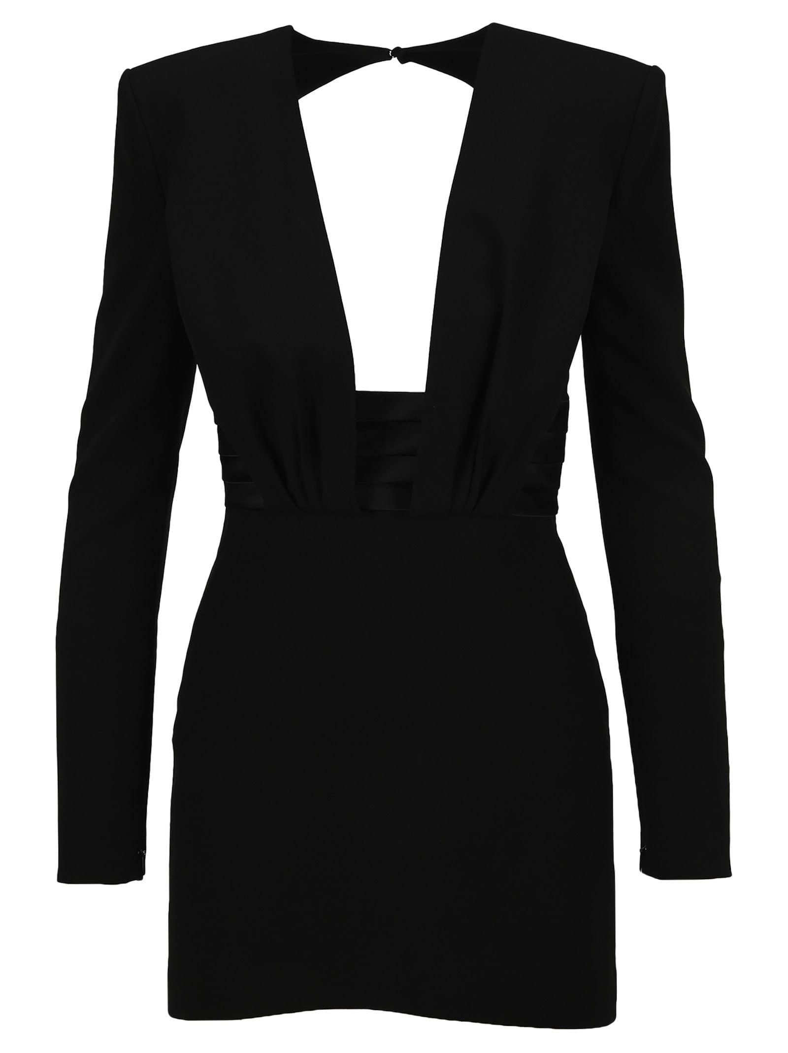 Buy Saint Laurent Structured Shoulder Mini Dress online, shop Saint Laurent with free shipping