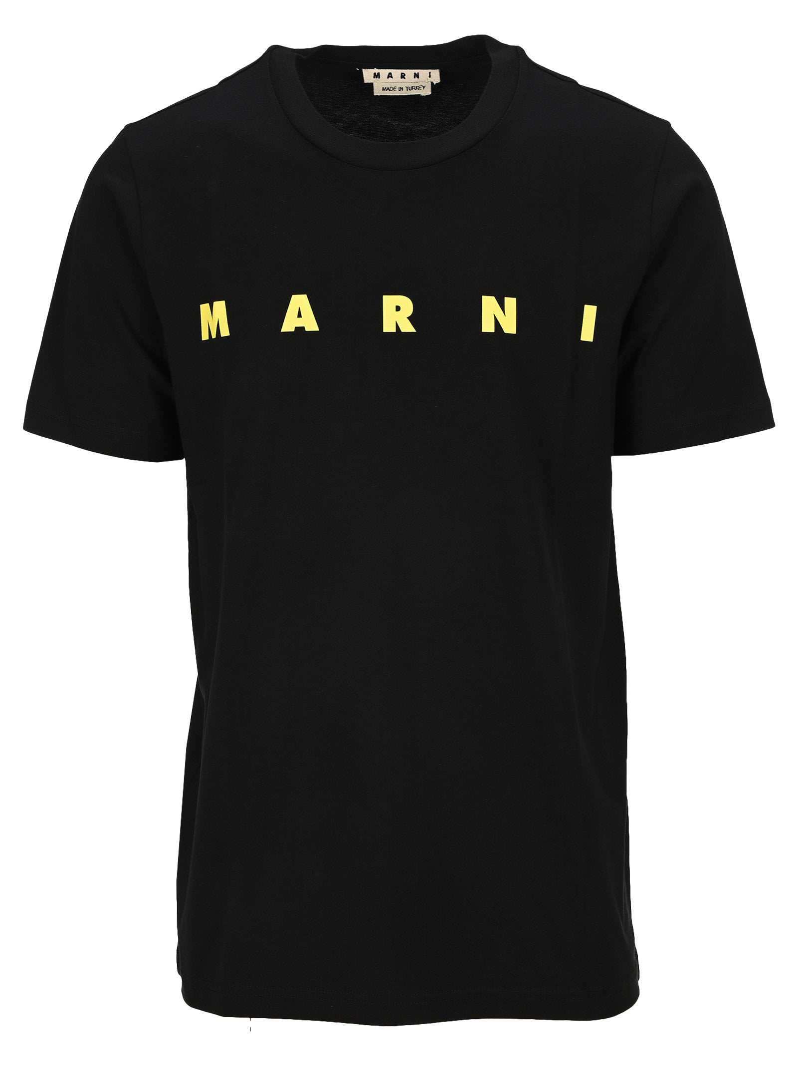 Marni Short-sleeved Organic Jersey T-shirt In Black