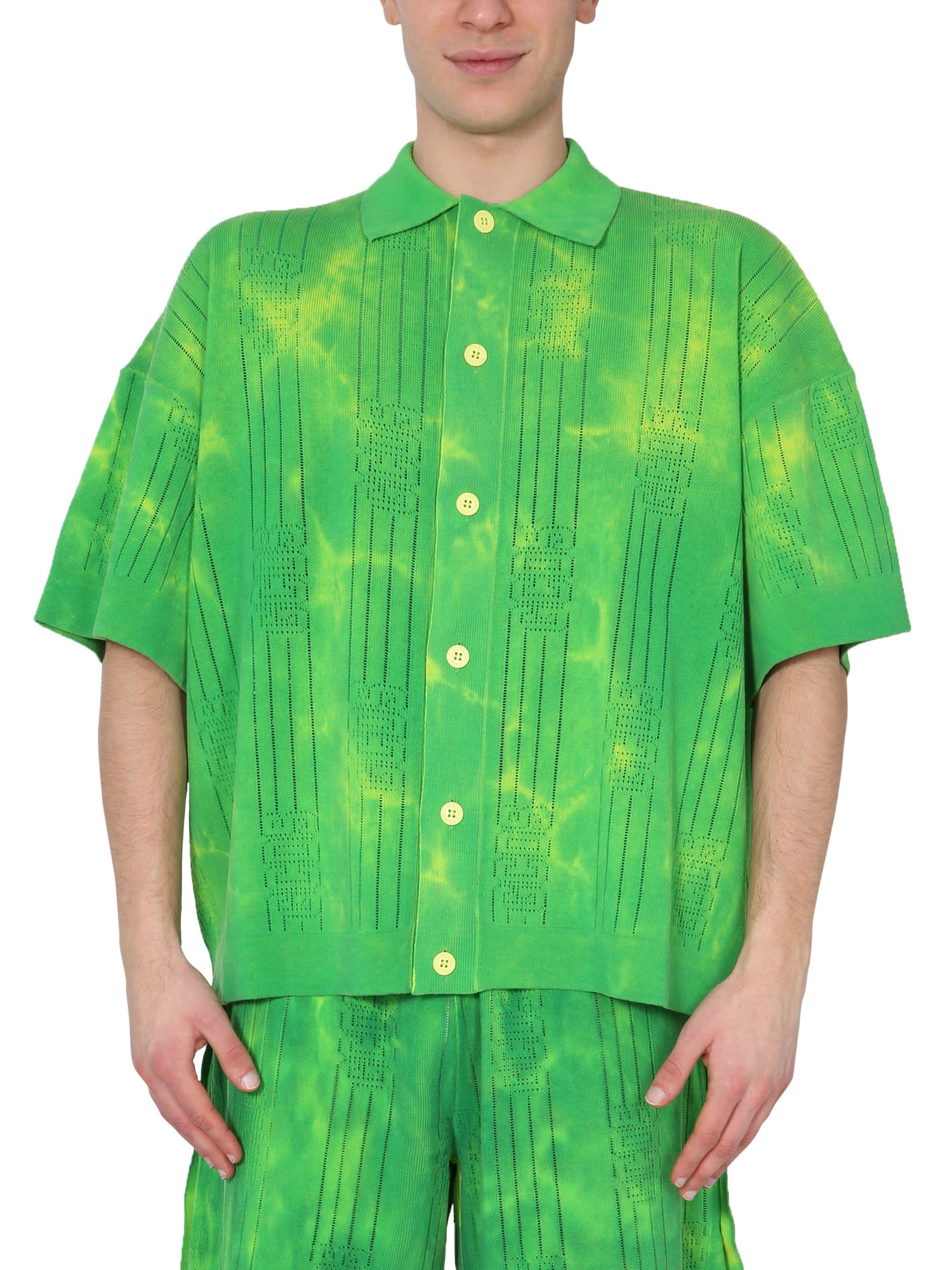 Gcds Cottons SHIRT WITH TIE DYE PRINT