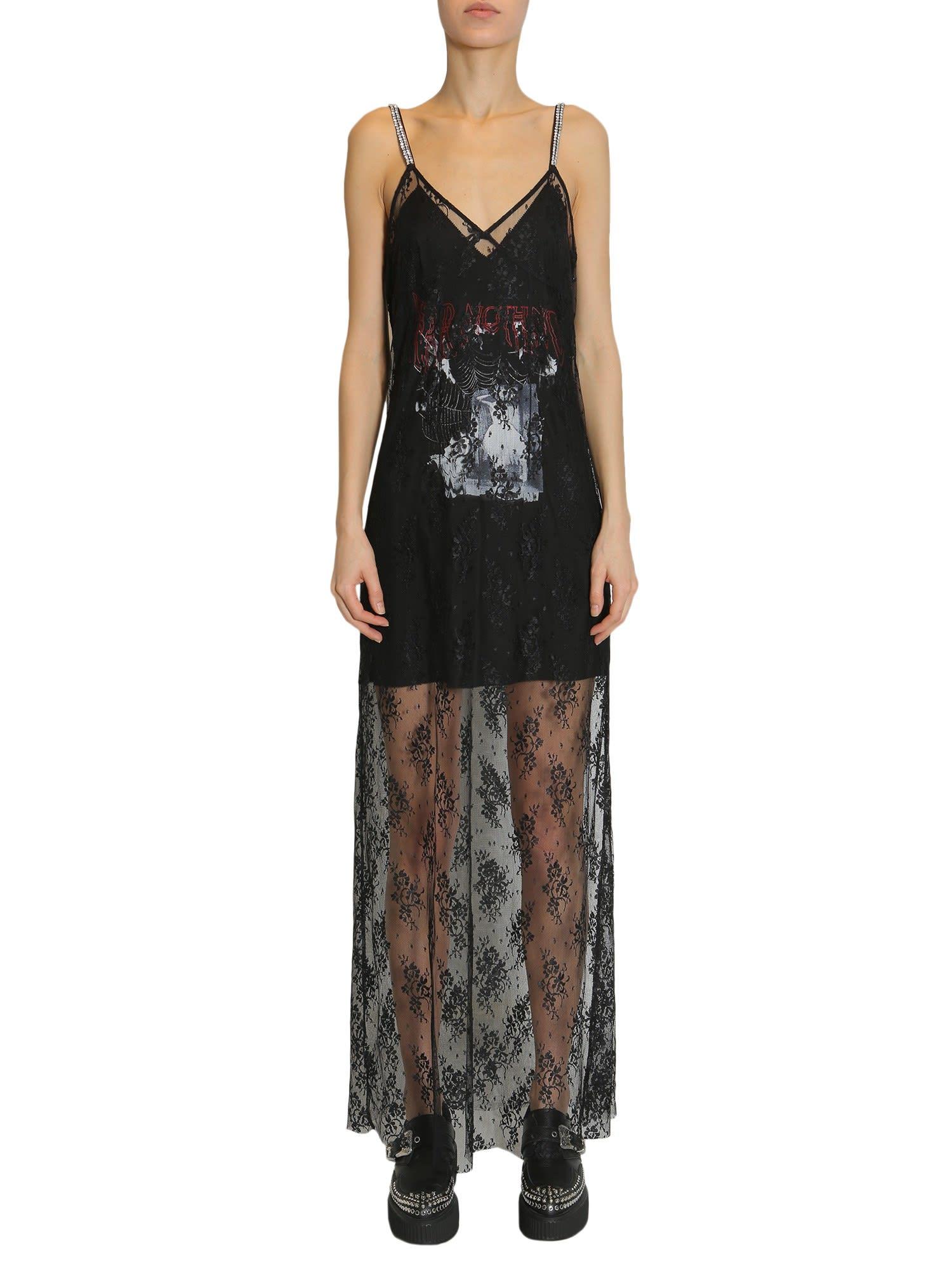 McQ Alexander McQueen Long Lace Dress