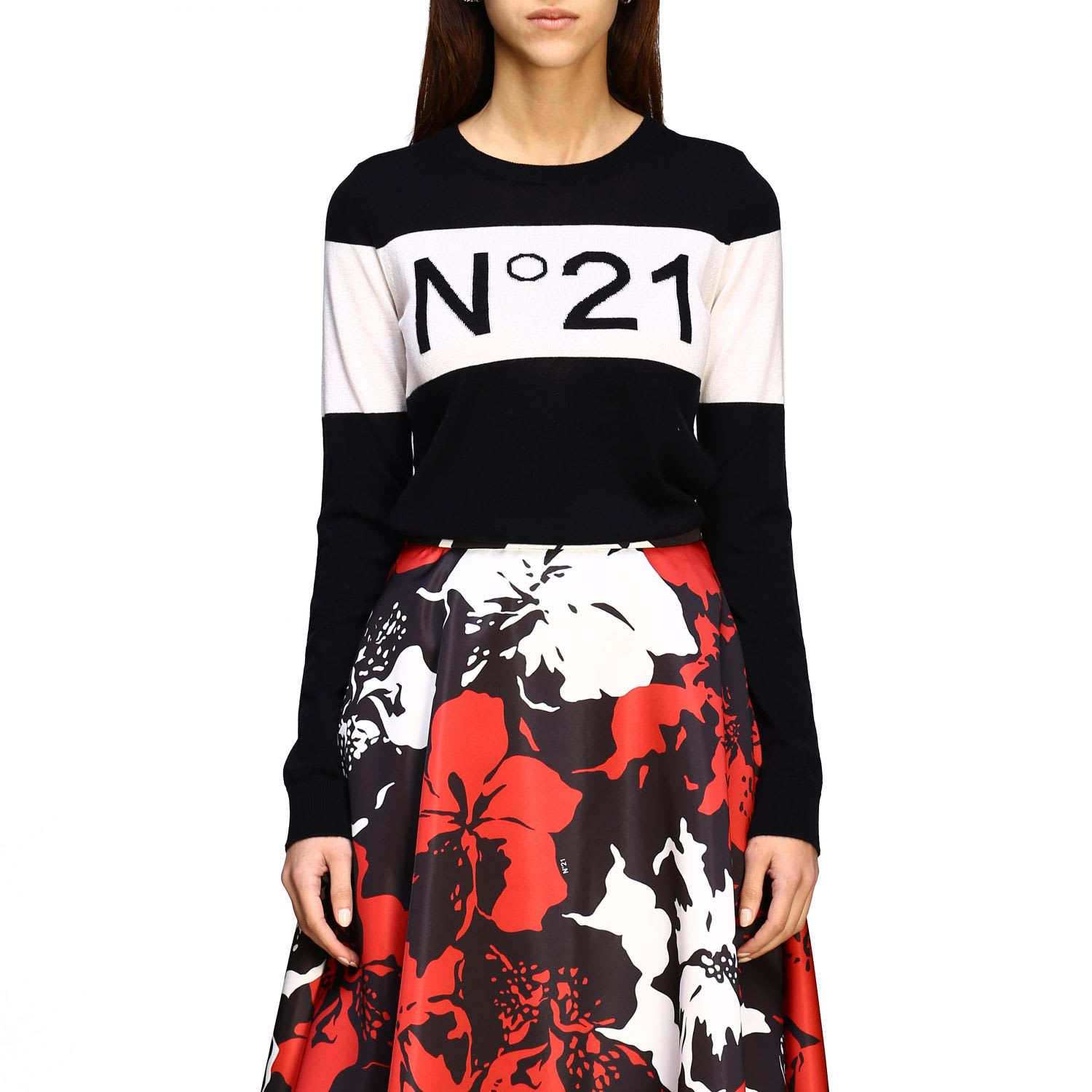 N° 21 Sweater N ° 21 Crew Neck Sweater With Logo