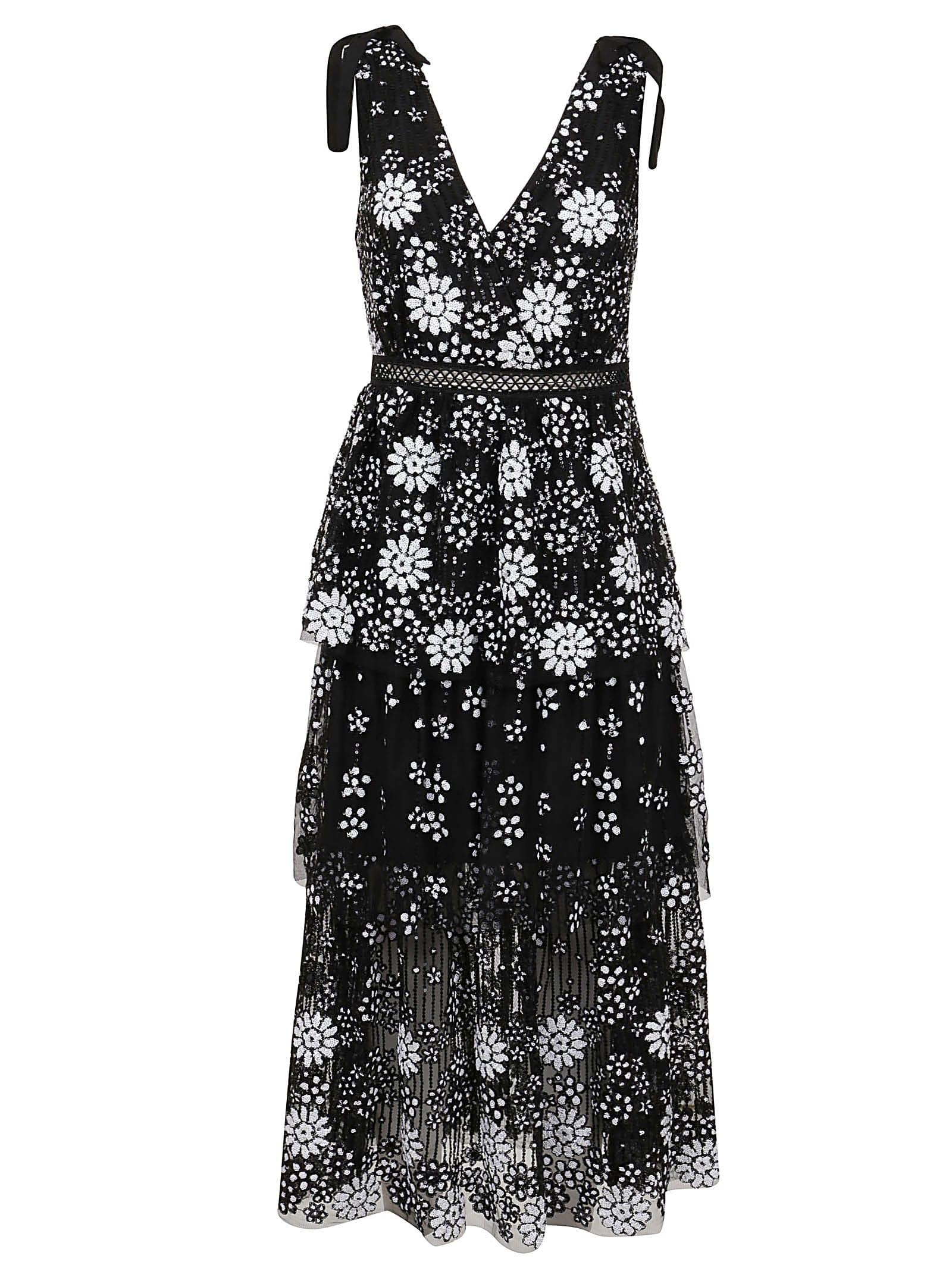 Buy self-portrait Starlet Deco Sequin Midi Dress online, shop self-portrait with free shipping