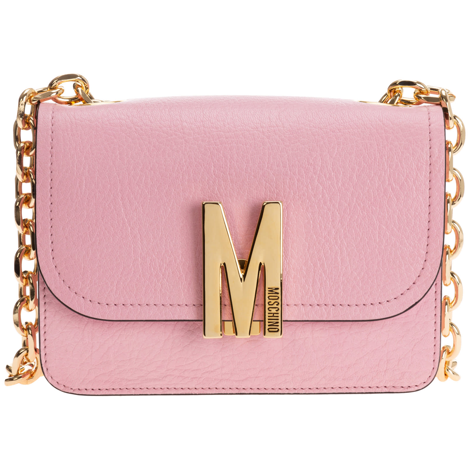 Moschino M Shoulder Bag In Rosa
