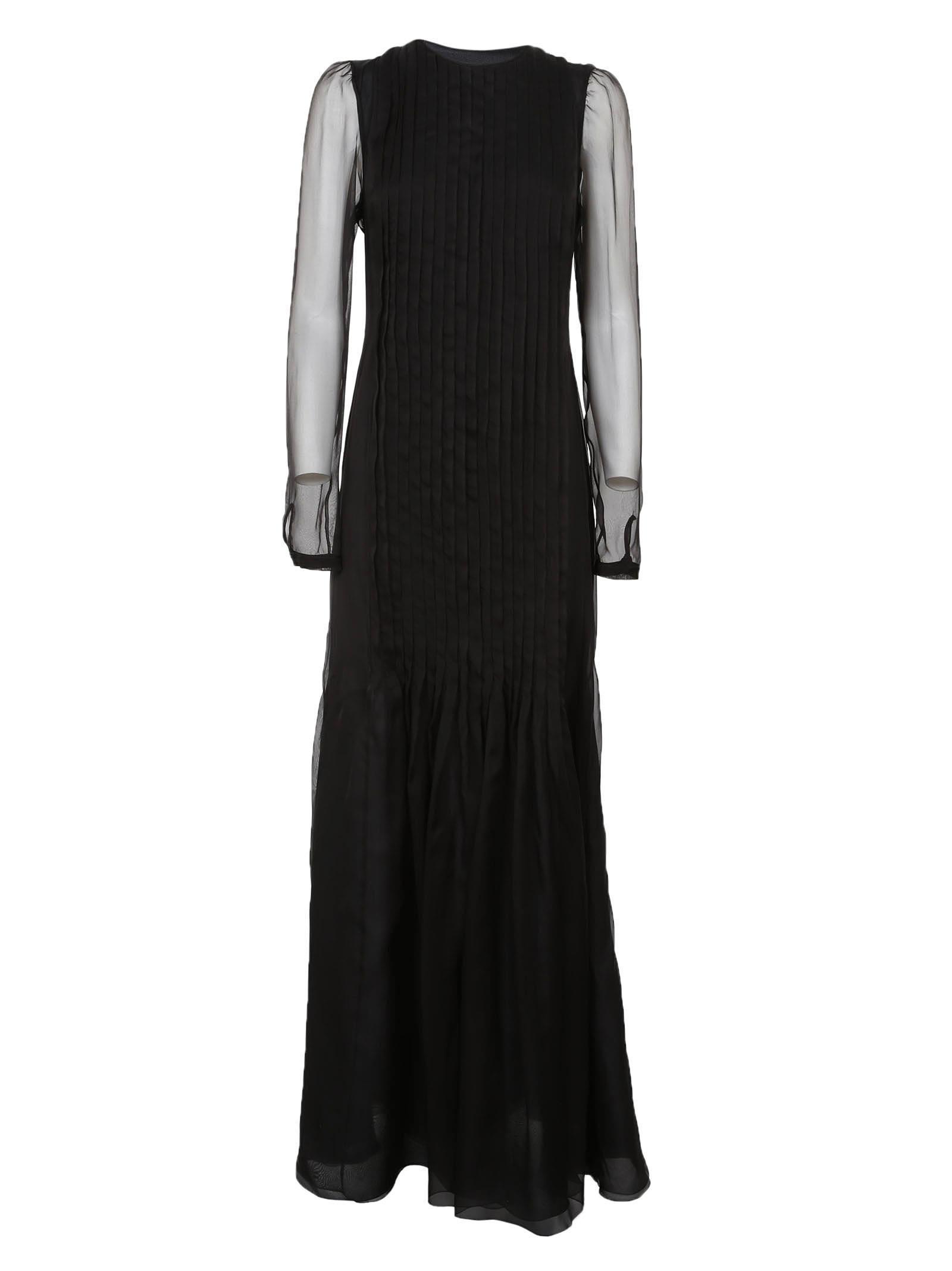 Rochas Sheer Panel Dress