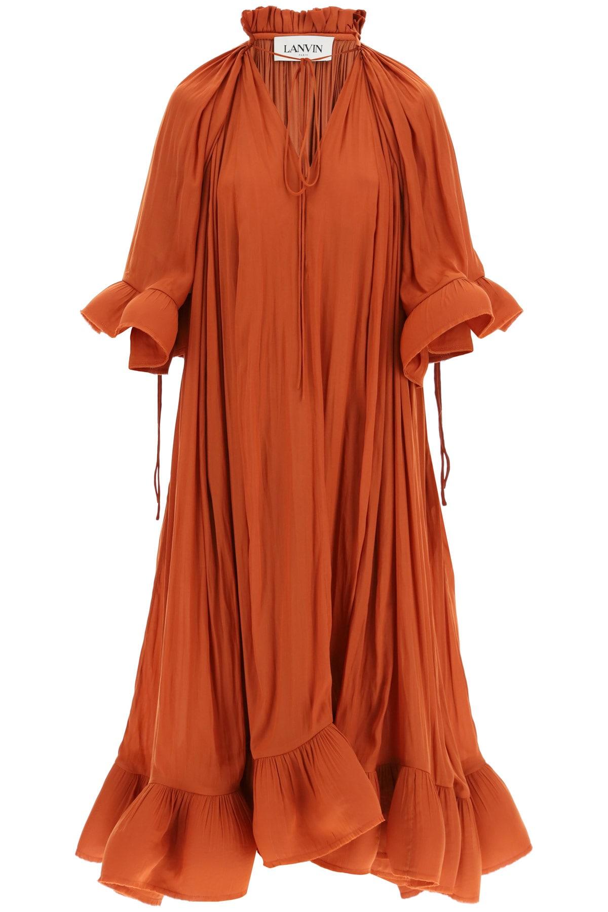 Lanvin LONG DRESS WITH RUFFLES