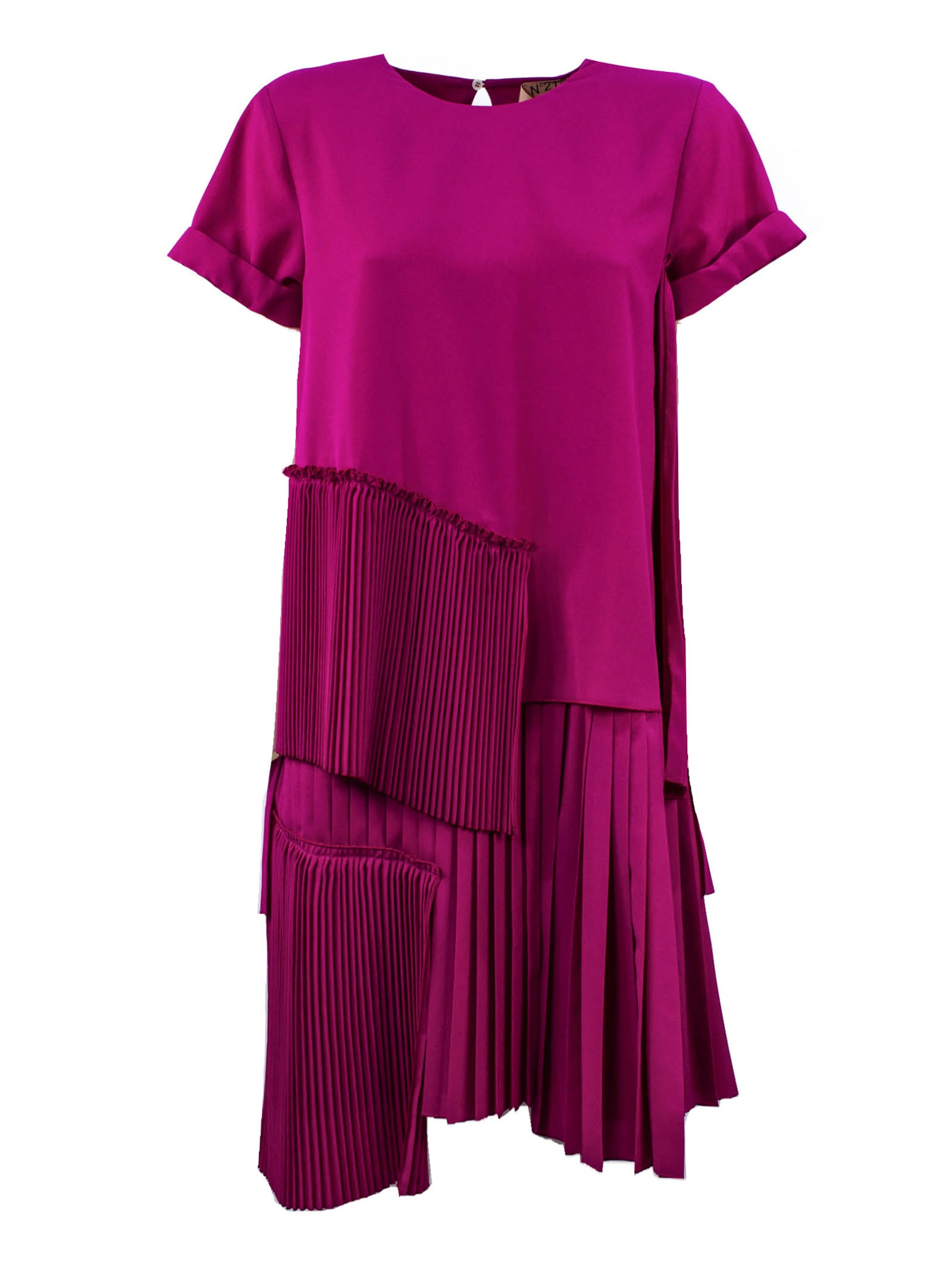 Buy N.21 Flared Fuchsia Dress online, shop N.21 with free shipping