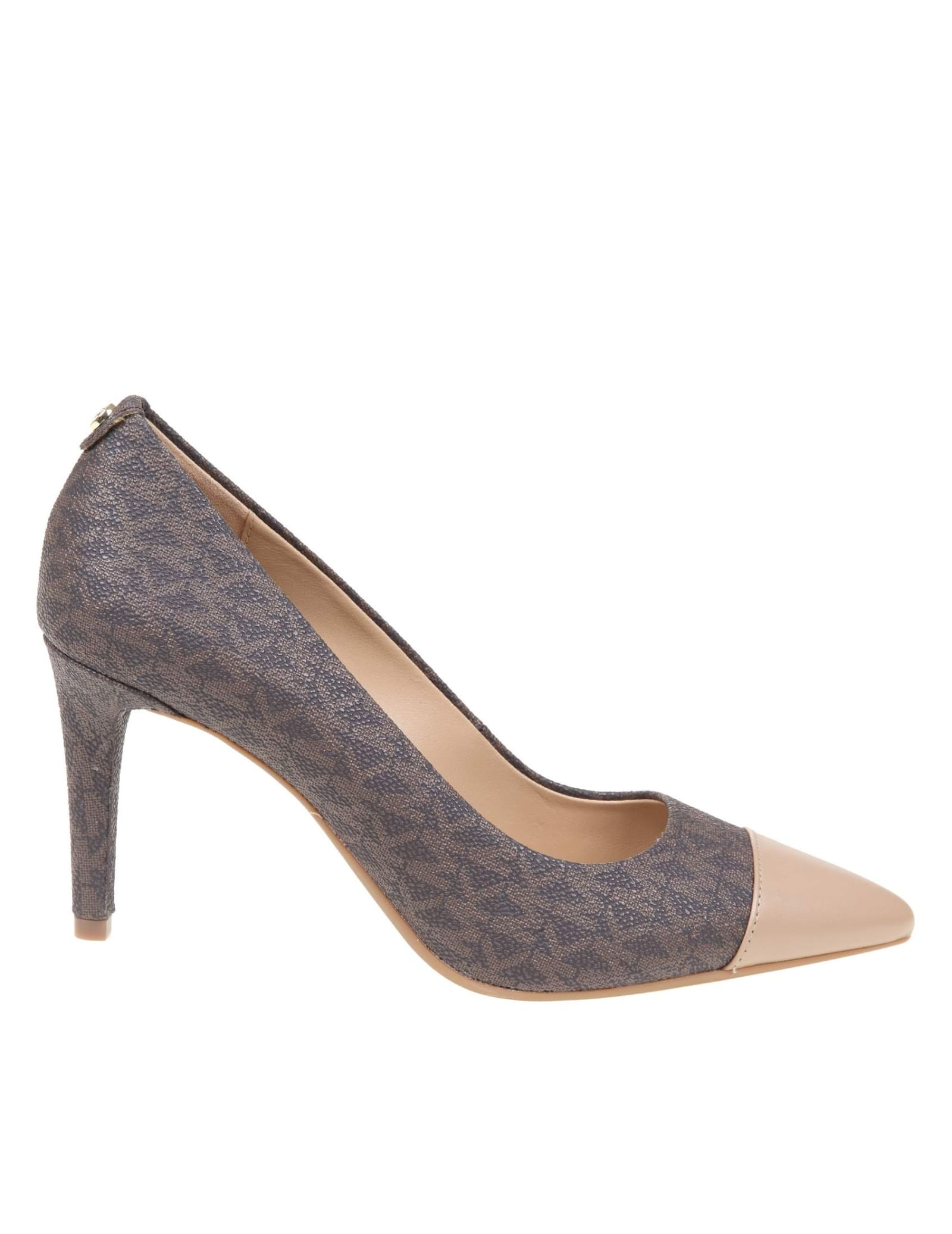 Buy Michael Kors Decollete dorothy Flex In Leather online, shop Michael Kors shoes with free shipping