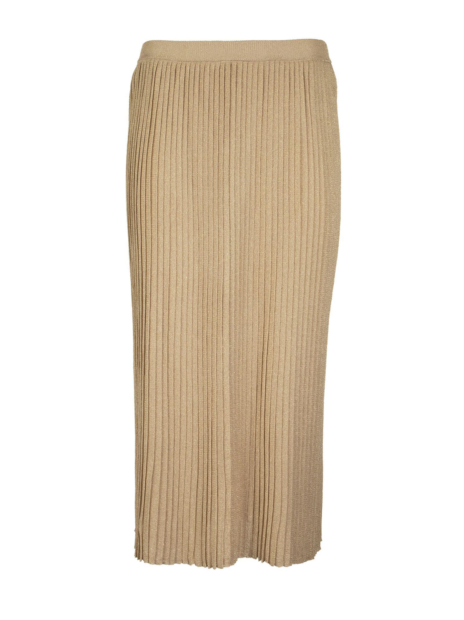 Elisabetta Franchi Pleated Skirt With High Waist