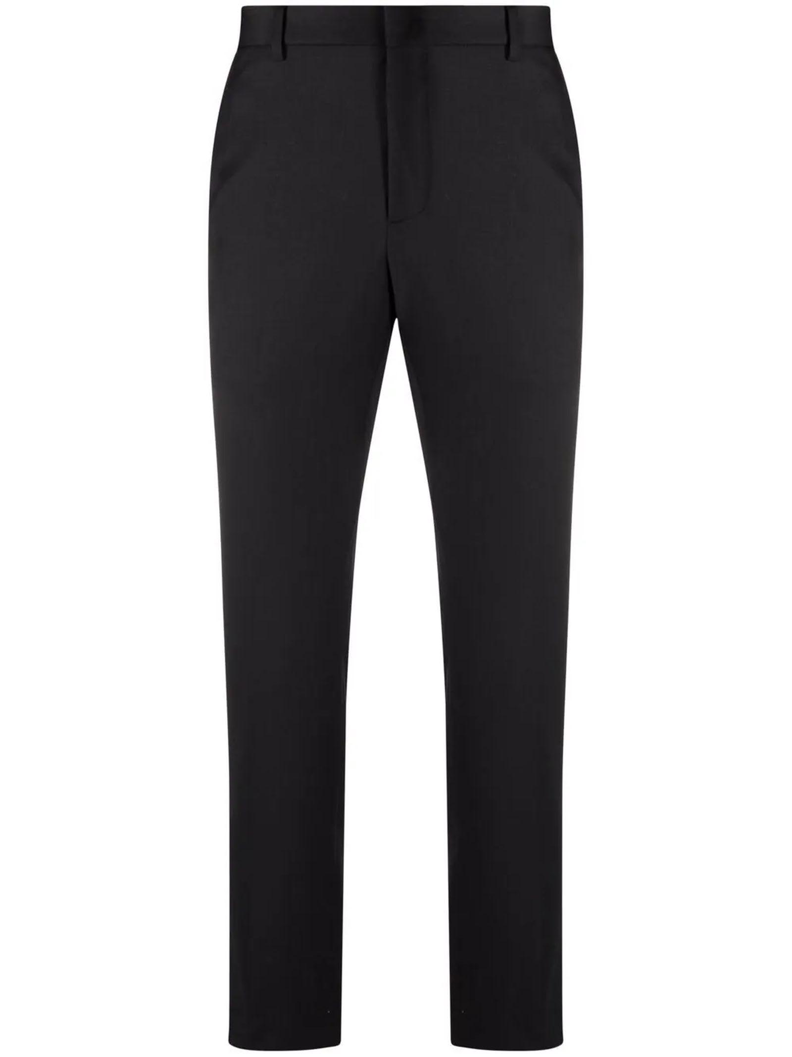 Black Virgin-wool Trousers