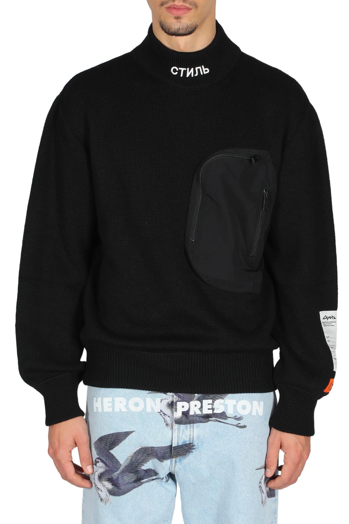 Heron Preston Knit Mock Pocket In Nero