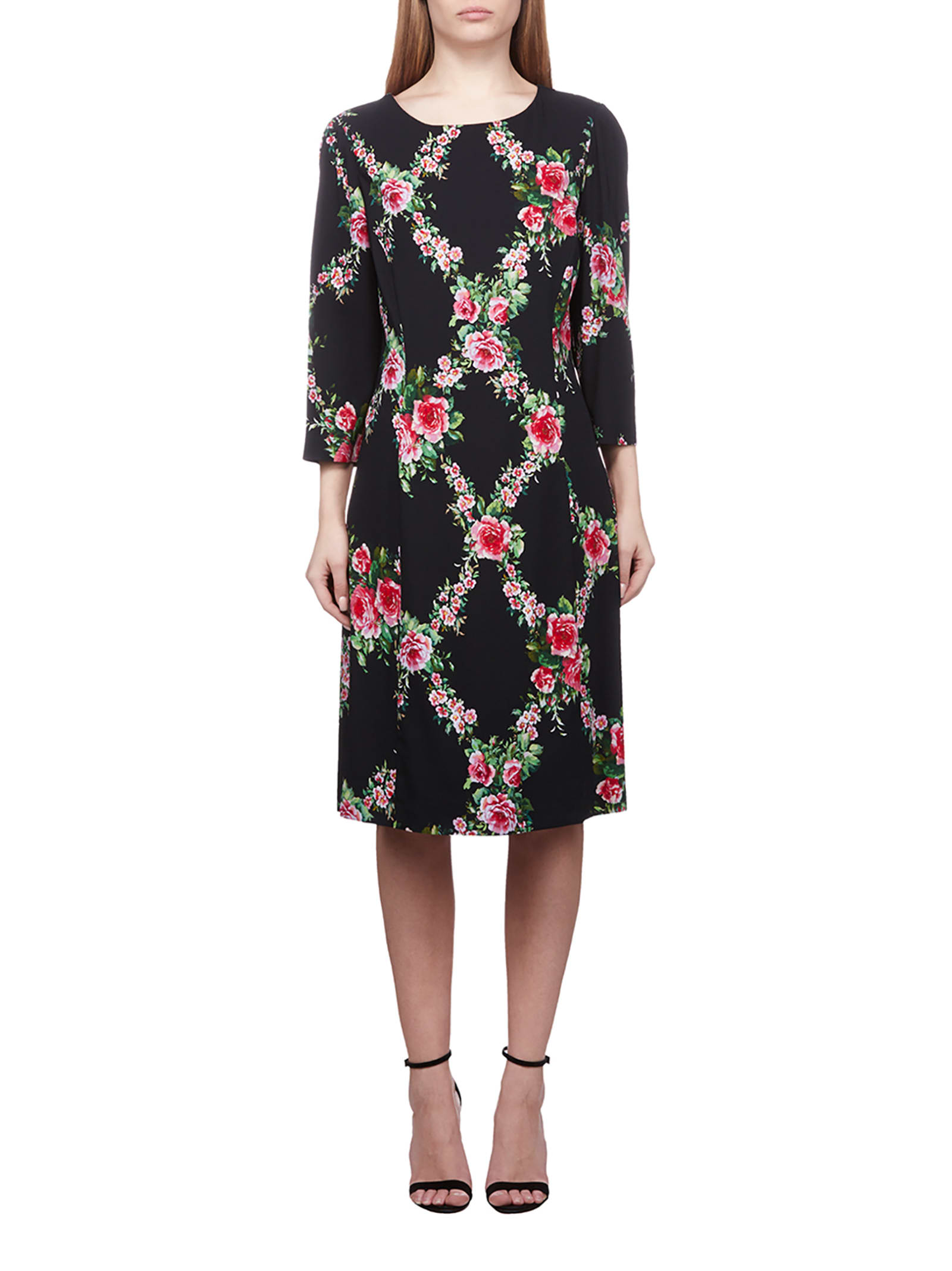 Buy Blumarine Floral Print Dress online, shop Blumarine with free shipping
