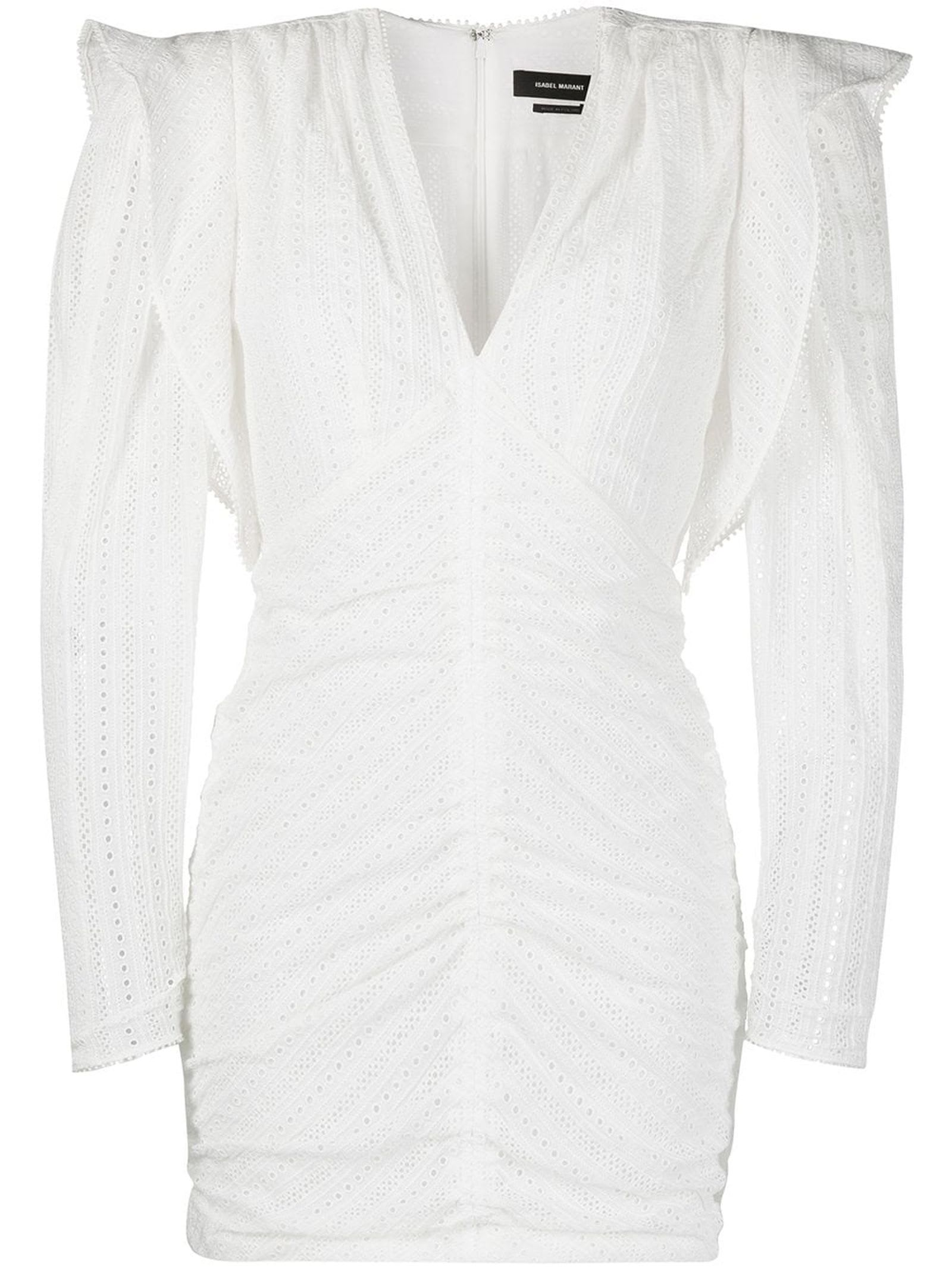 Isabel Marant White Silk/cotton Getya Minidress