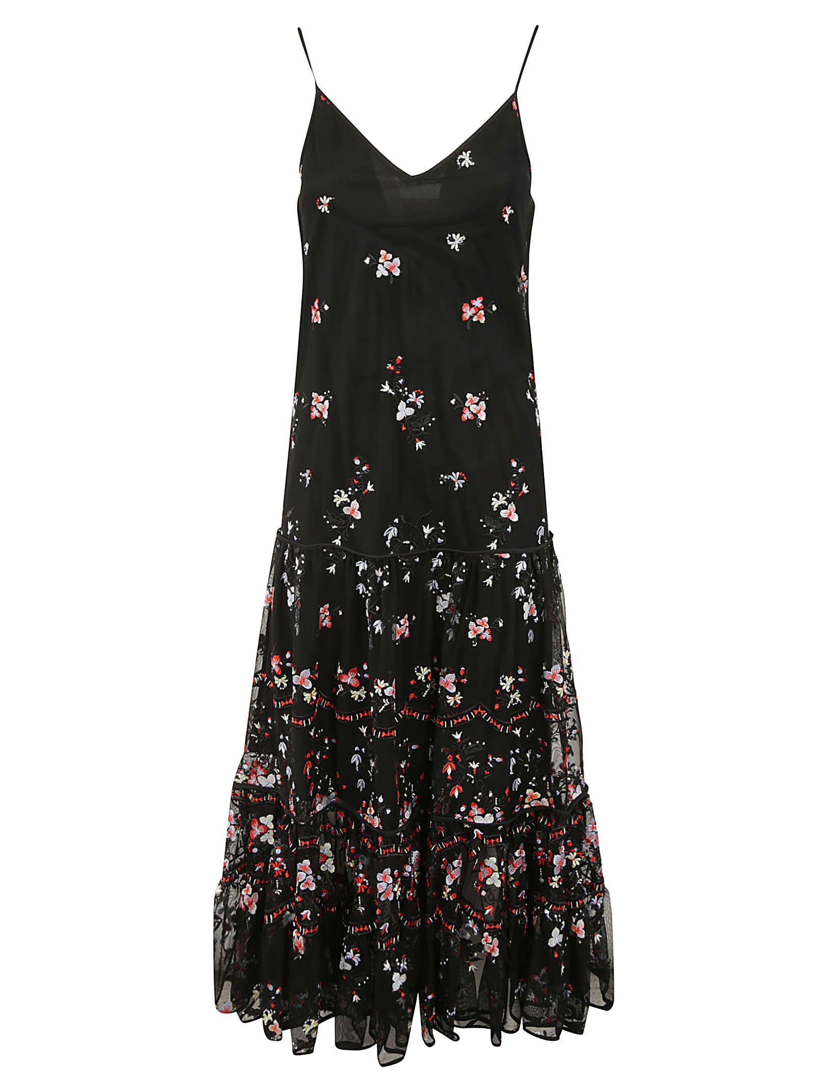 Buy Tory Burch Embroidered Tulle Dress online, shop Tory Burch with free shipping