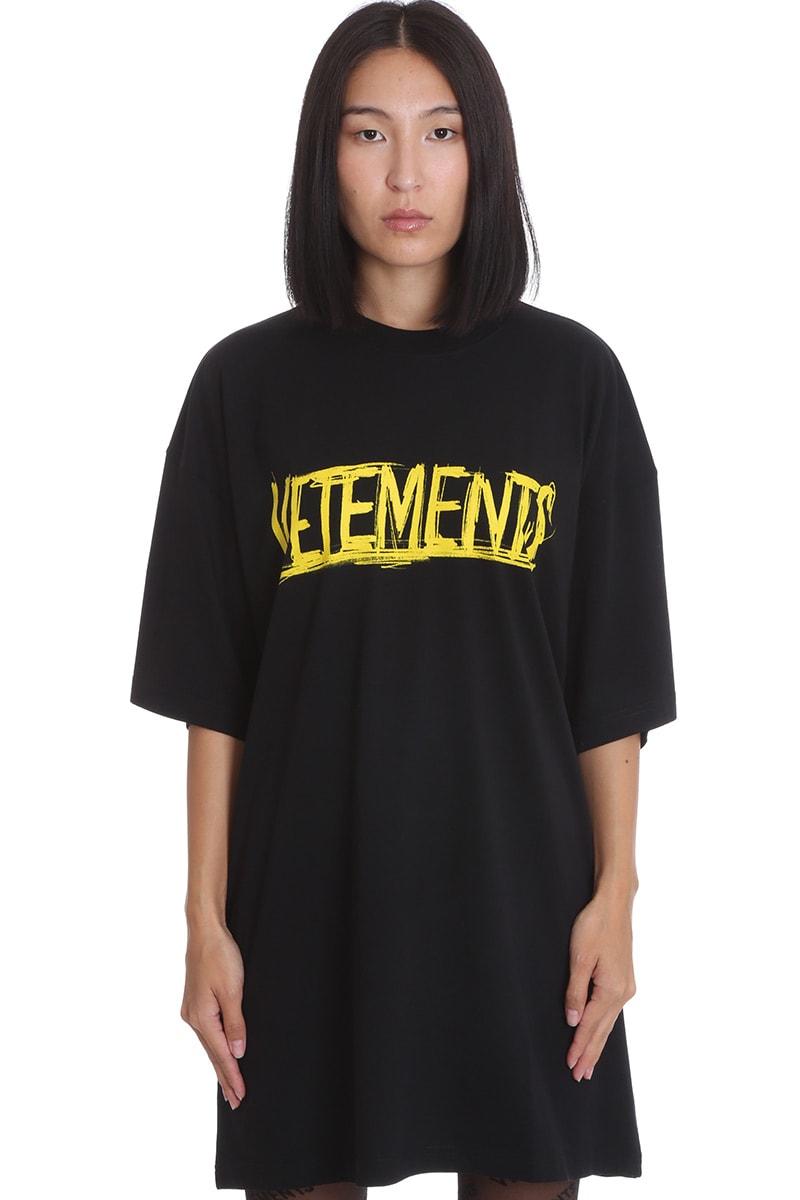 VETEMENTS T-shirt In Black Cotton