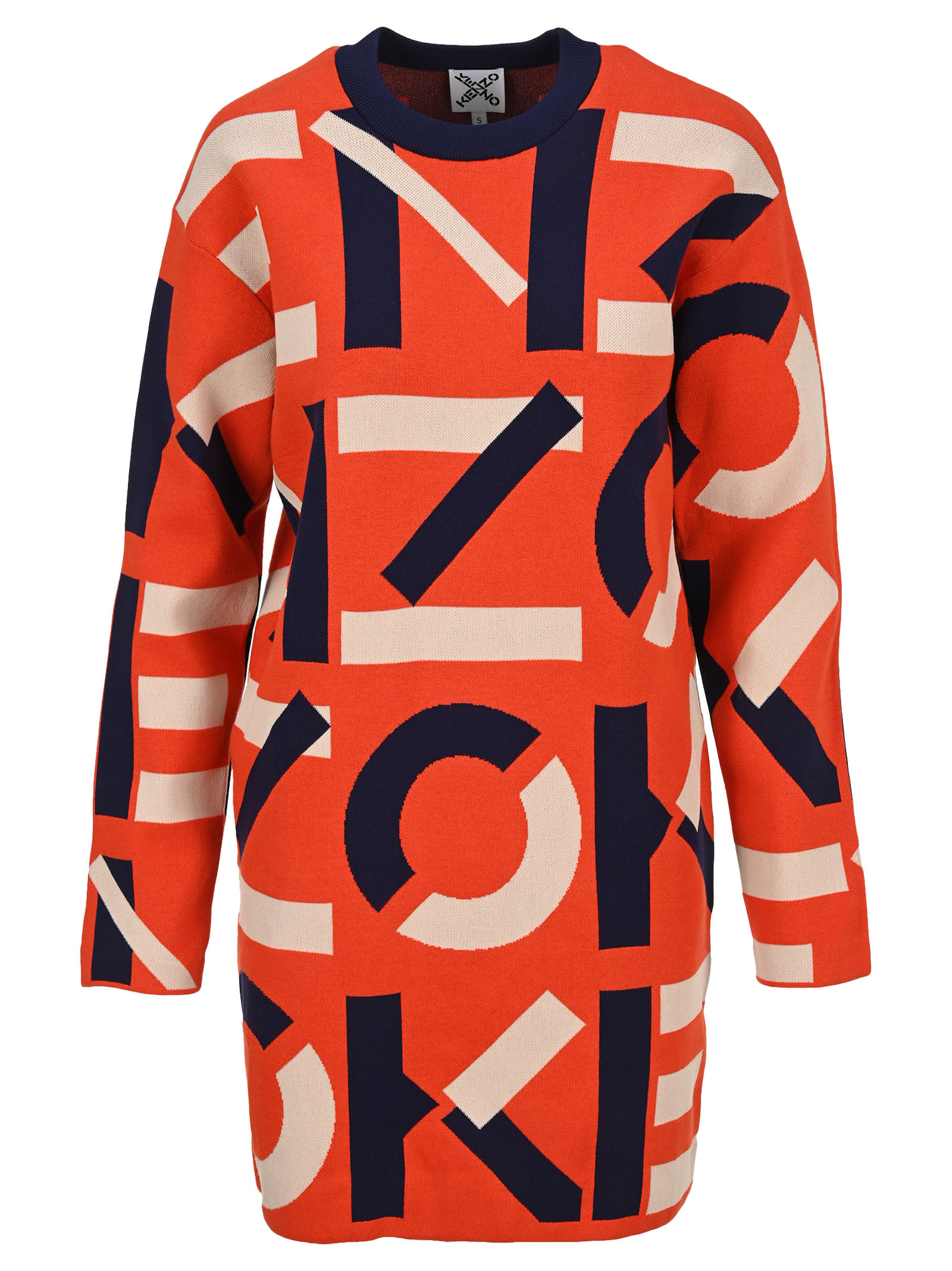 Kenzo Cottons SPORT JACQUARD MONOGRAM DRESS