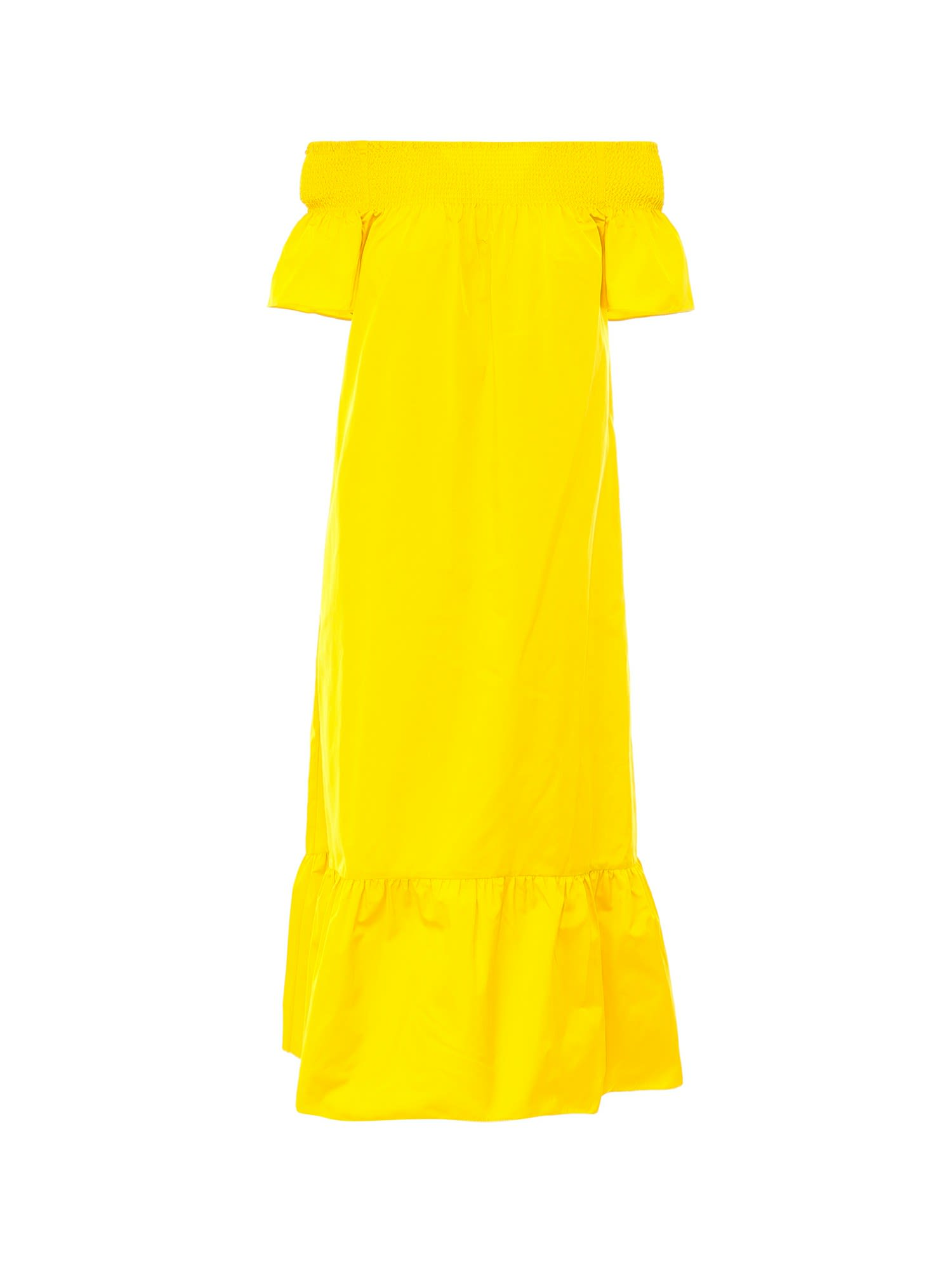 Buy Tory Burch Smocked Shoulder Tie Dress online, shop Tory Burch with free shipping