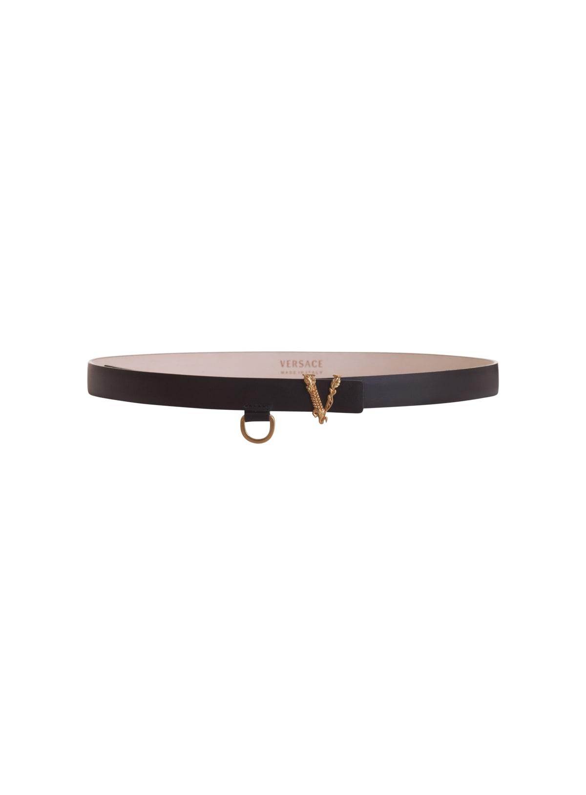 Versace Belts VIRTUS KINNY LEATHER BELT