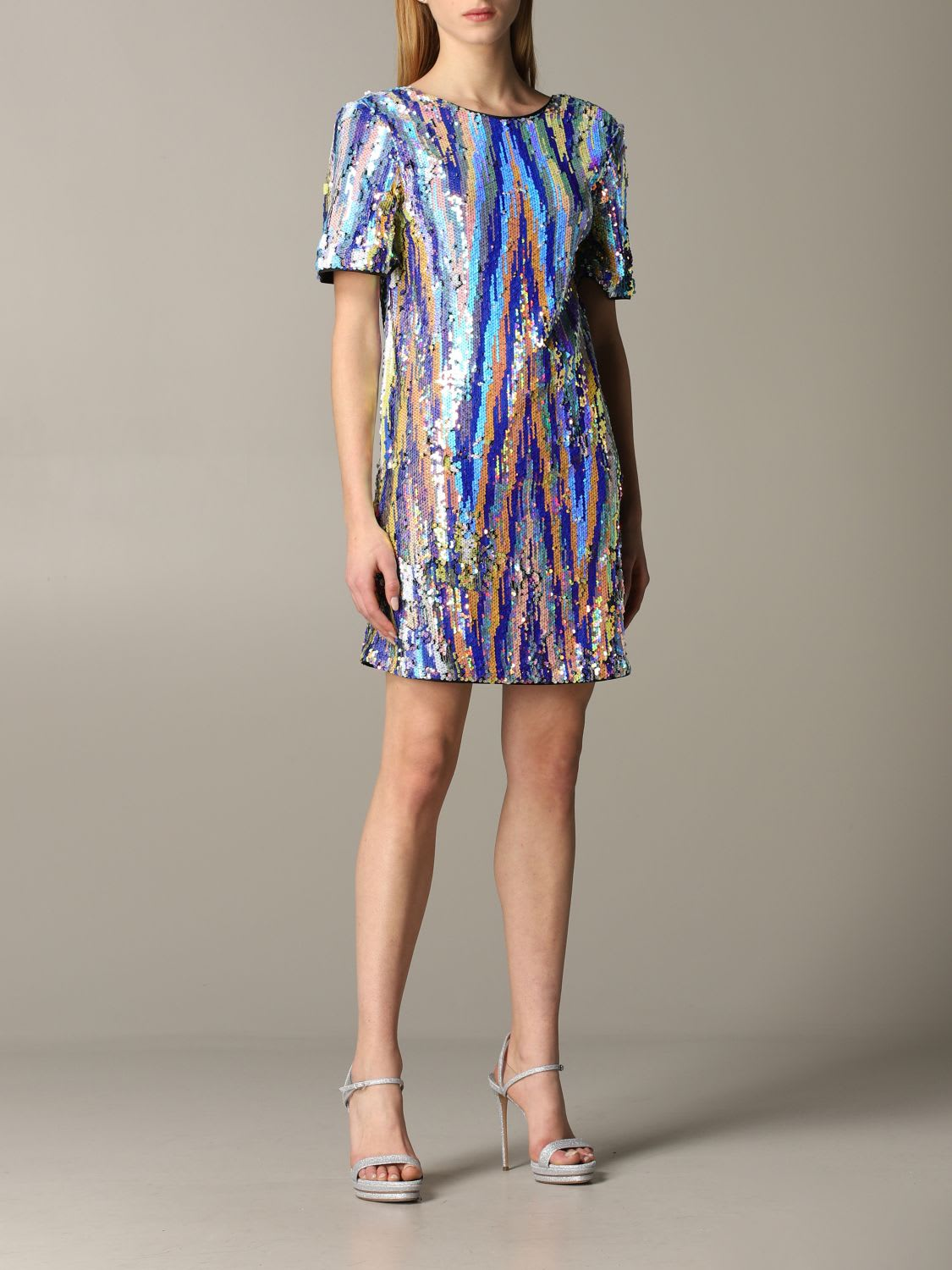 Buy Armani Exchange Dress Armani Exchange Sequined Dress online, shop Armani Collezioni with free shipping