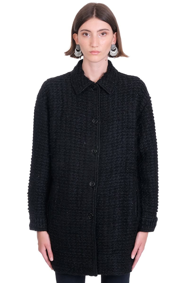 Iro BRAY COAT IN BLACK WOOL