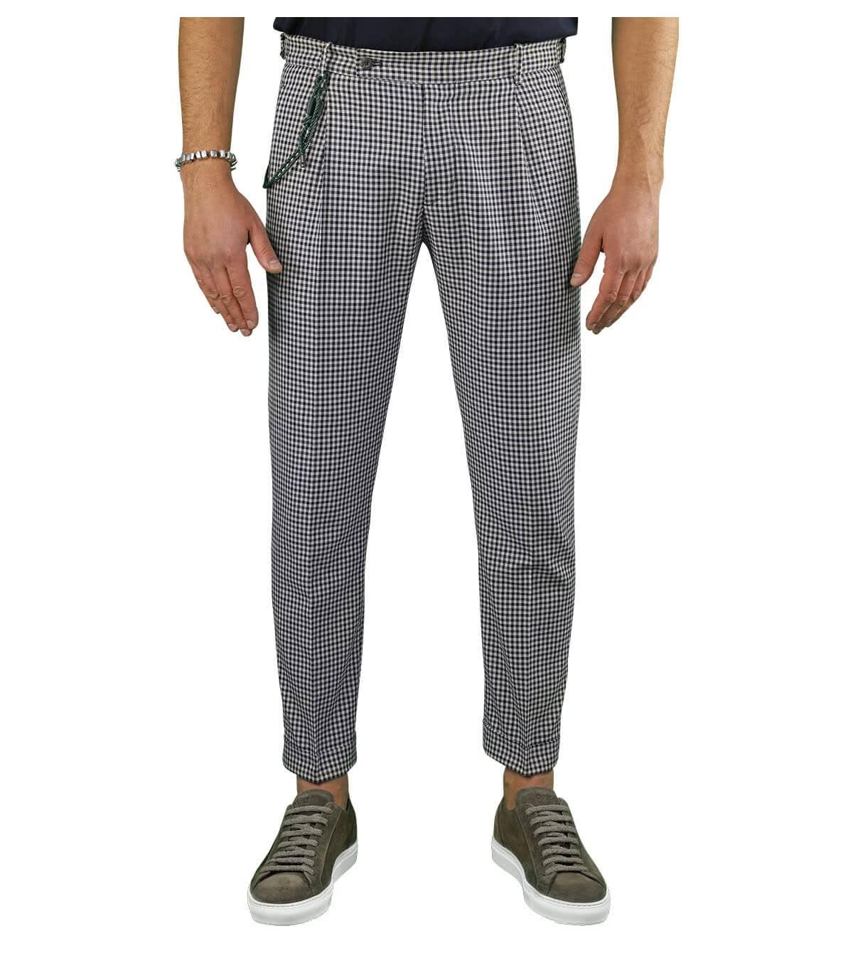 Retro Vichy Brown Chino Trousers
