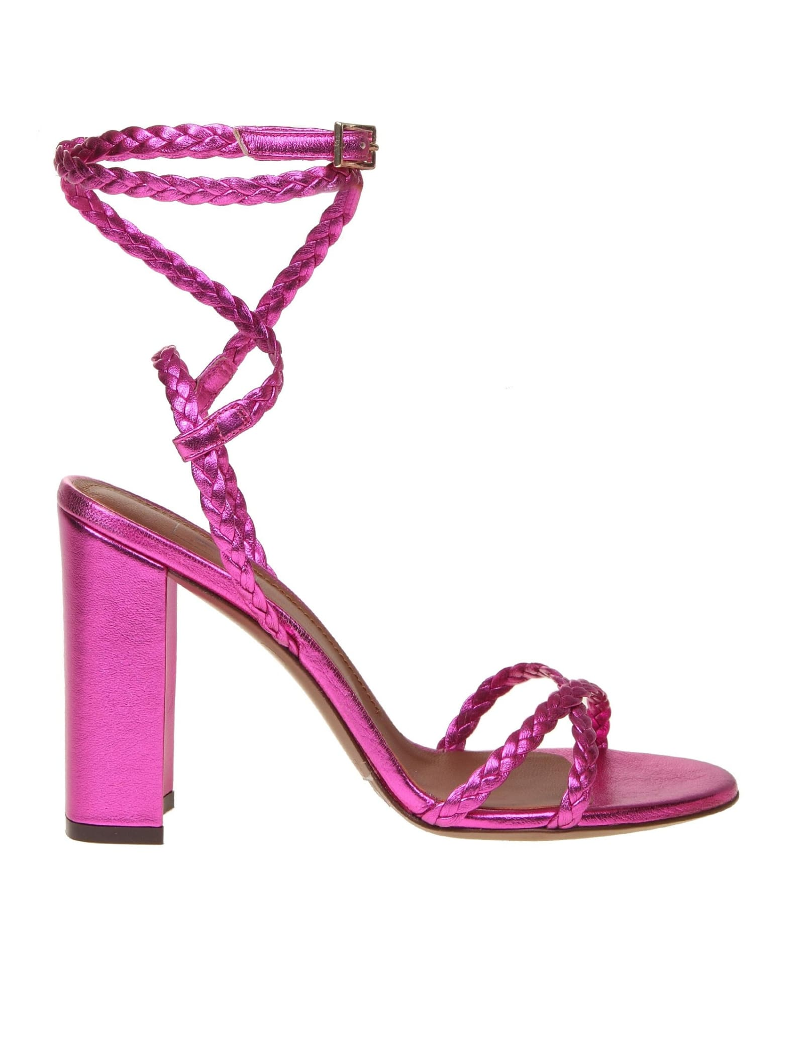 L'autre Chose SANDAL IN LAMINATED LEATHER