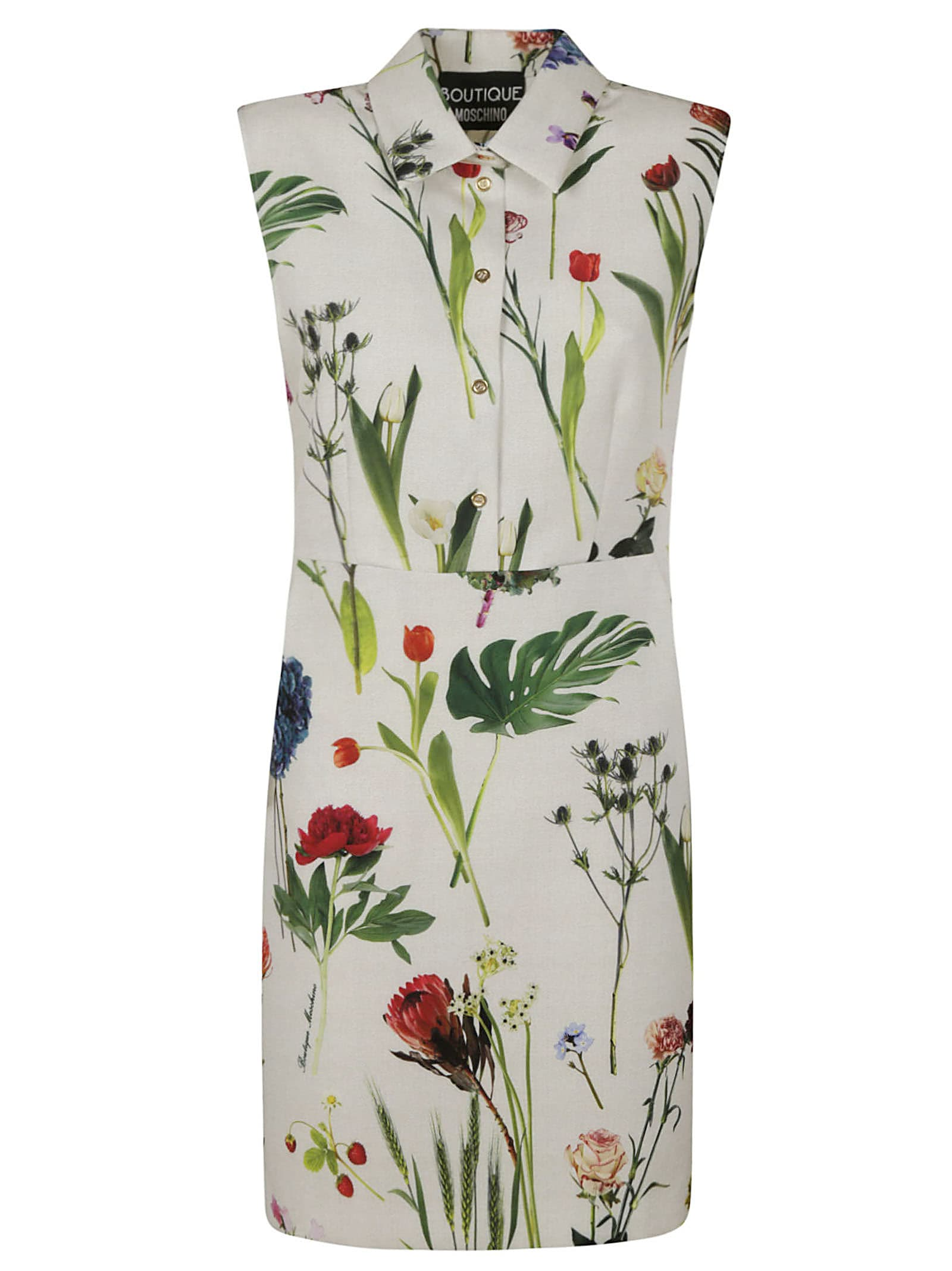 Boutique Moschino Sleeveless Printed Dress