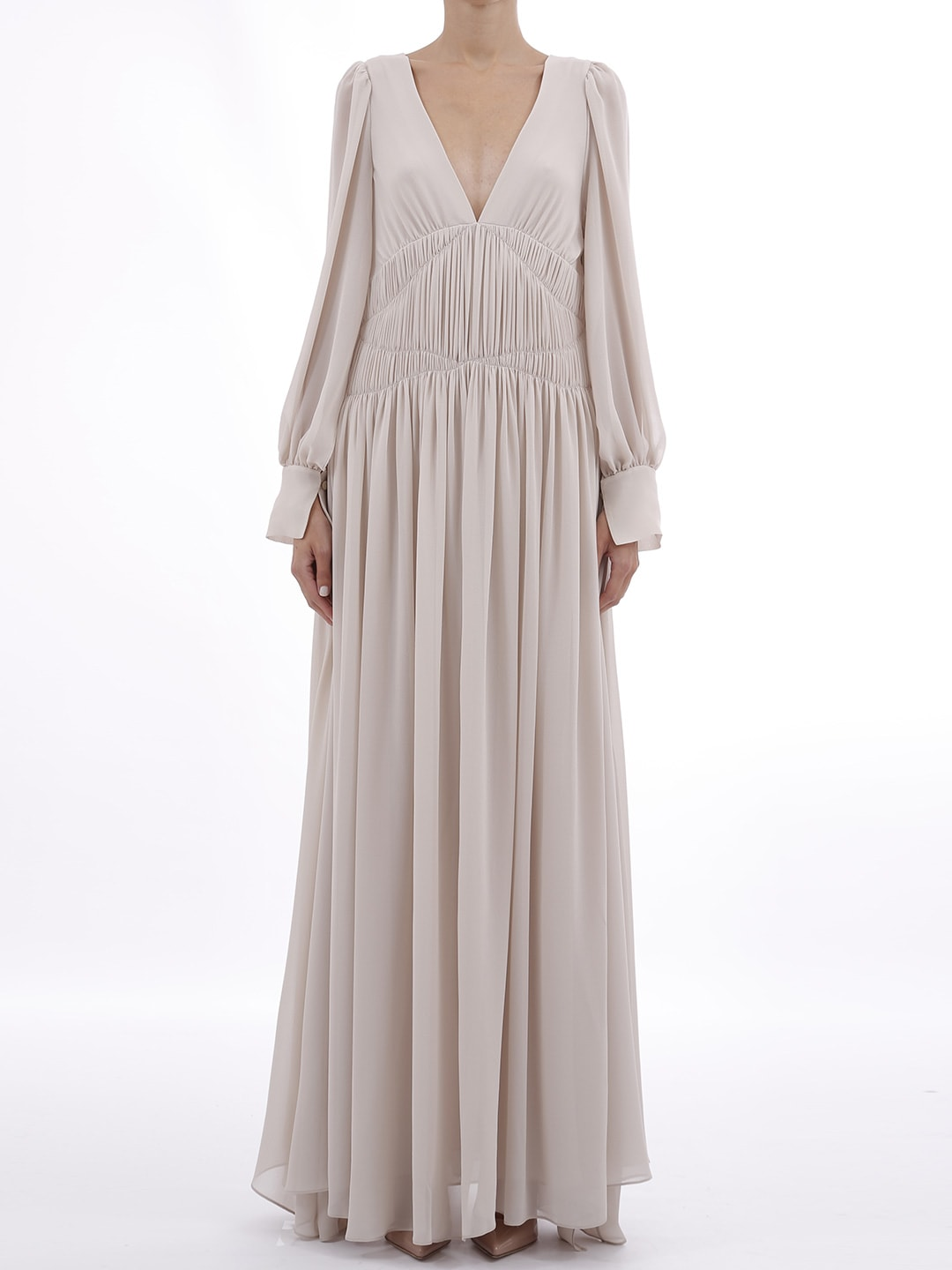 Buy Stella McCartney Maxi Dress With Drapery online, shop Stella McCartney with free shipping