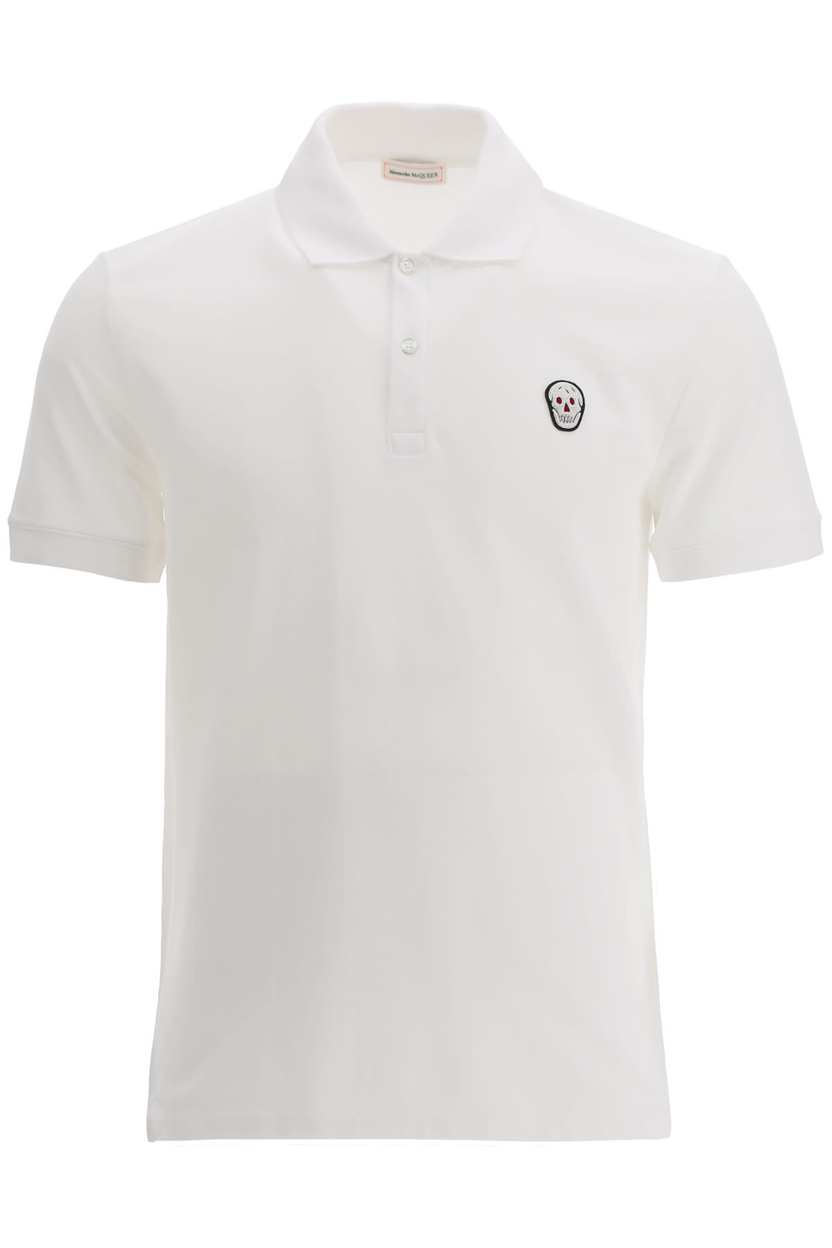 Alexander Mcqueen POLO SHIRT WITH SKULL PATCH