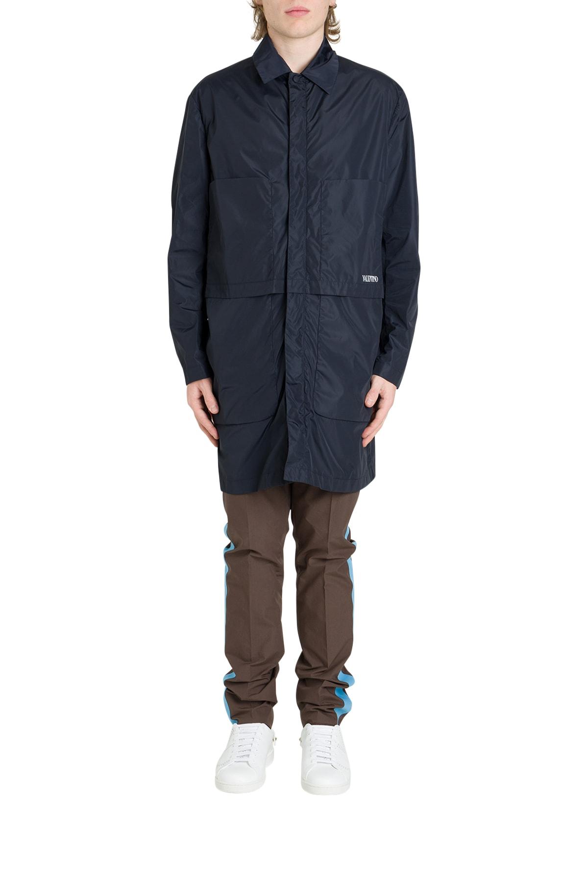 Valentino Nylon Jacket With Logo Print