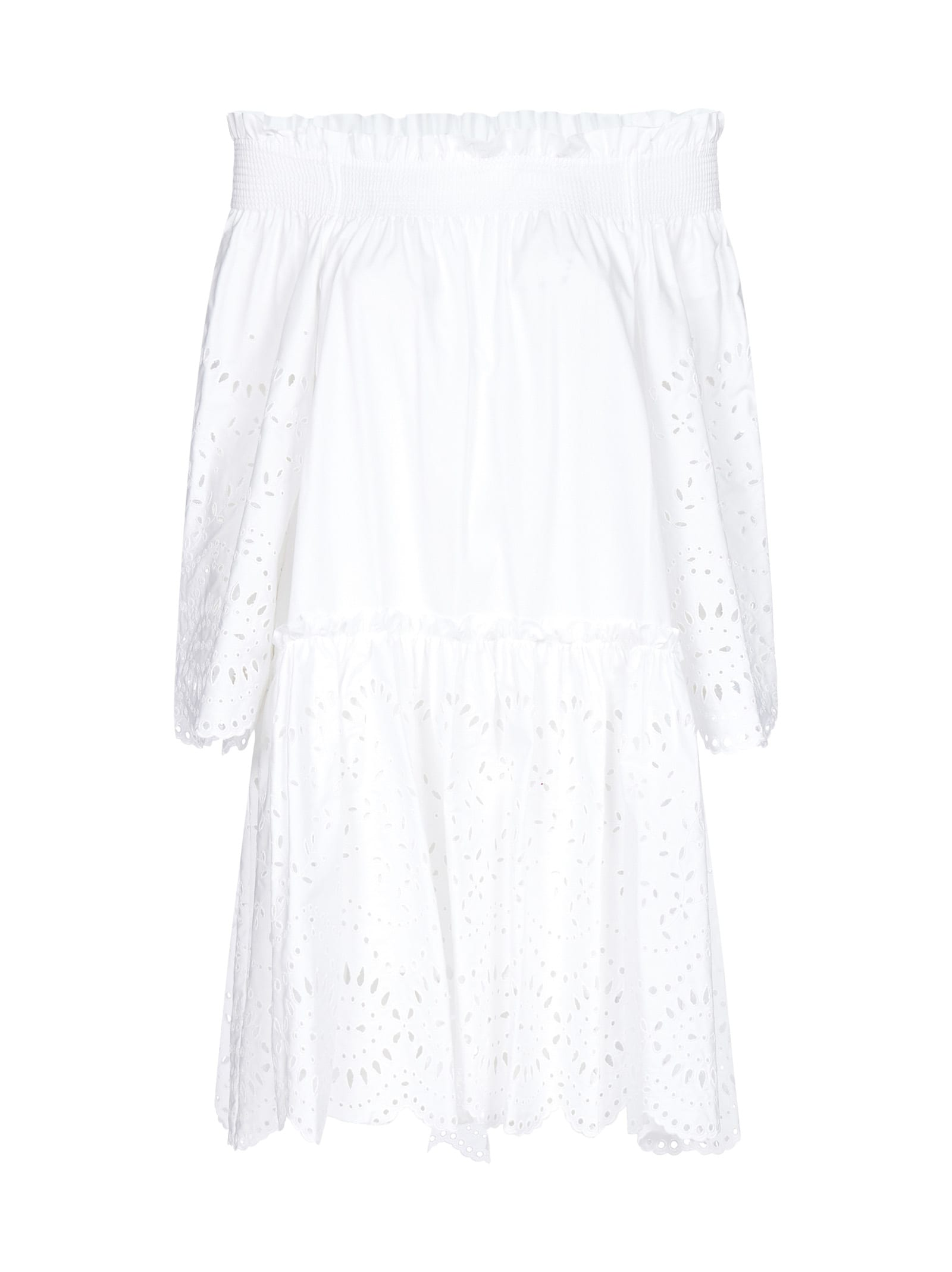 Buy Parosh Cosan Broderie Anglaise Cotton Dress online, shop Parosh with free shipping