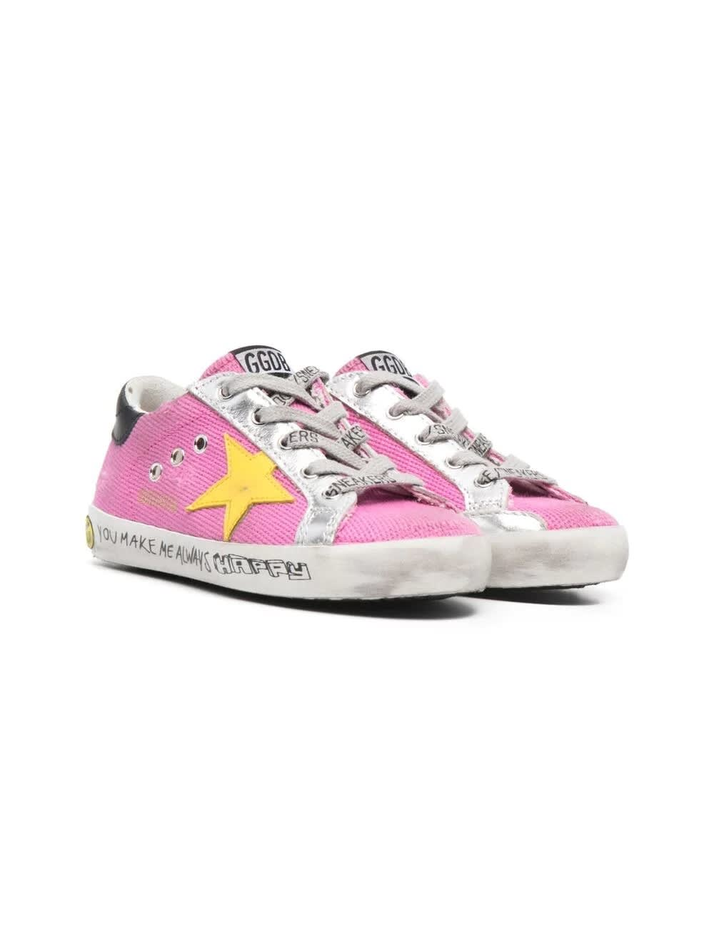 Golden Goose Pink Yellow Star Sneakers