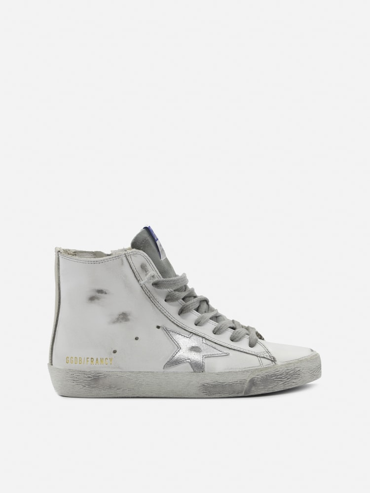 Golden Goose Francy High Sneakers In Leather