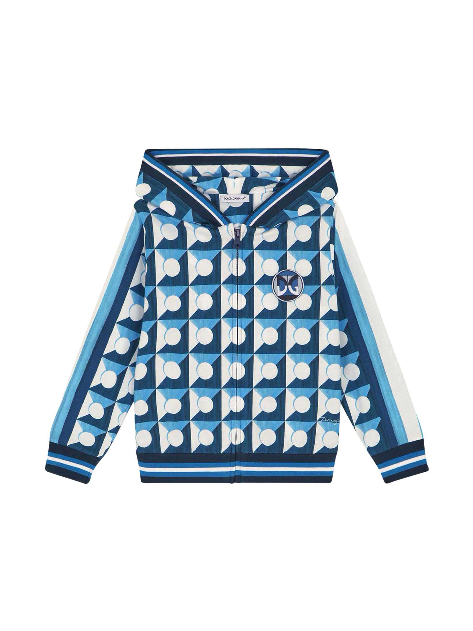 Dolce & Gabbana Shirts BLUE SWEATSHIRT