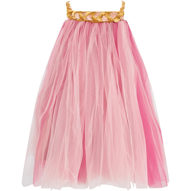 Buy Nikolia Pink And Fuchsia melodia Girl Dress online, shop Nikolia with free shipping