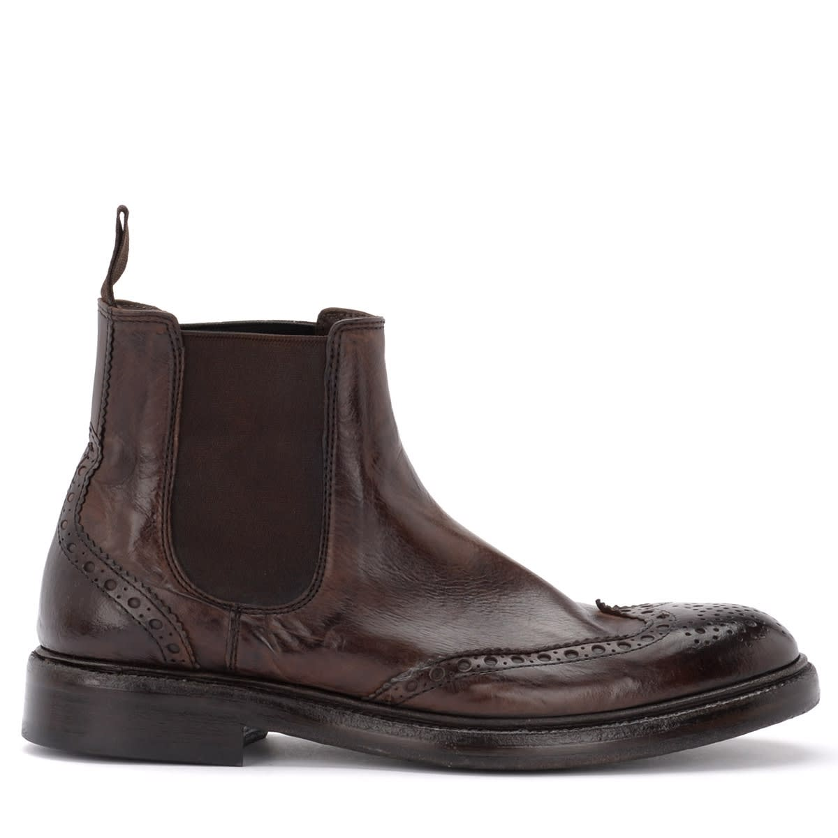 Polish Shoe Maremma In Brown Effect Washed Leather