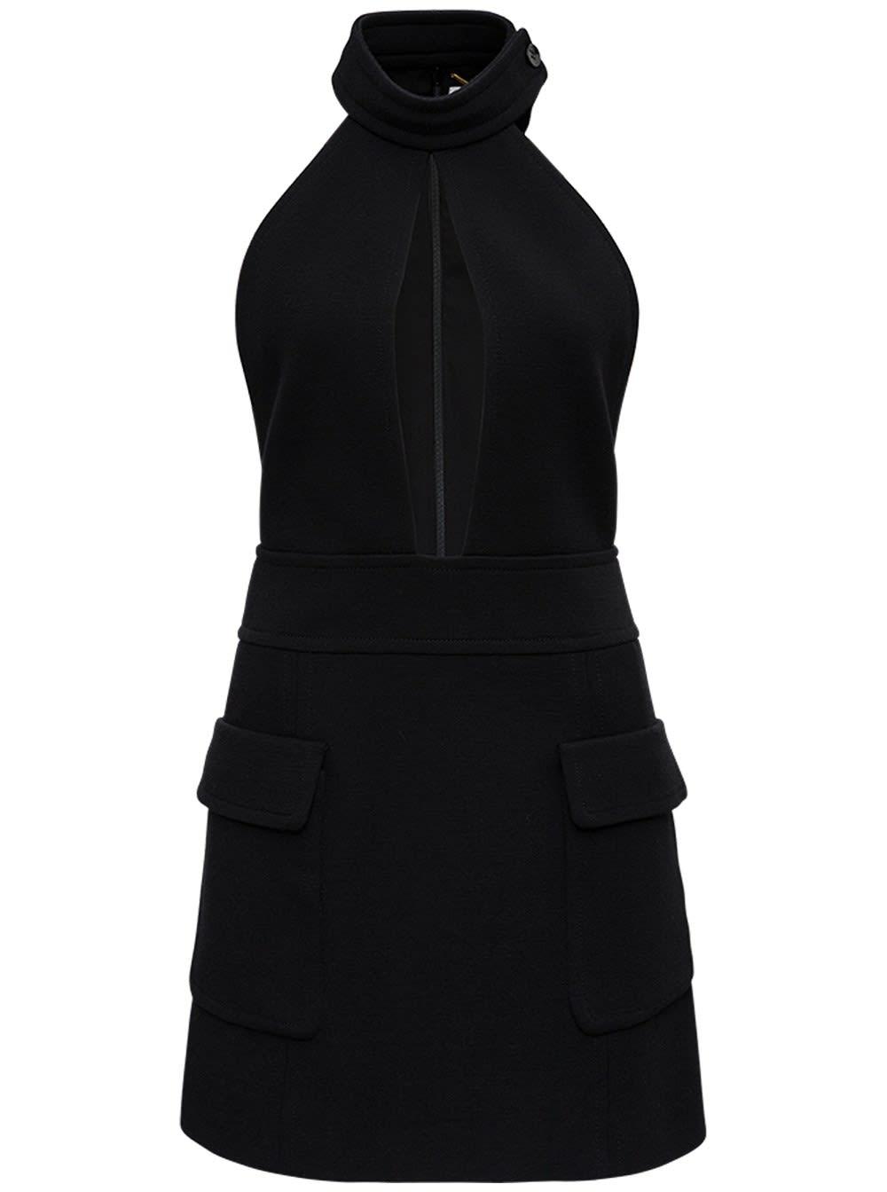 Buy Saint Laurent Wool Dress With Wide Neckline online, shop Saint Laurent with free shipping