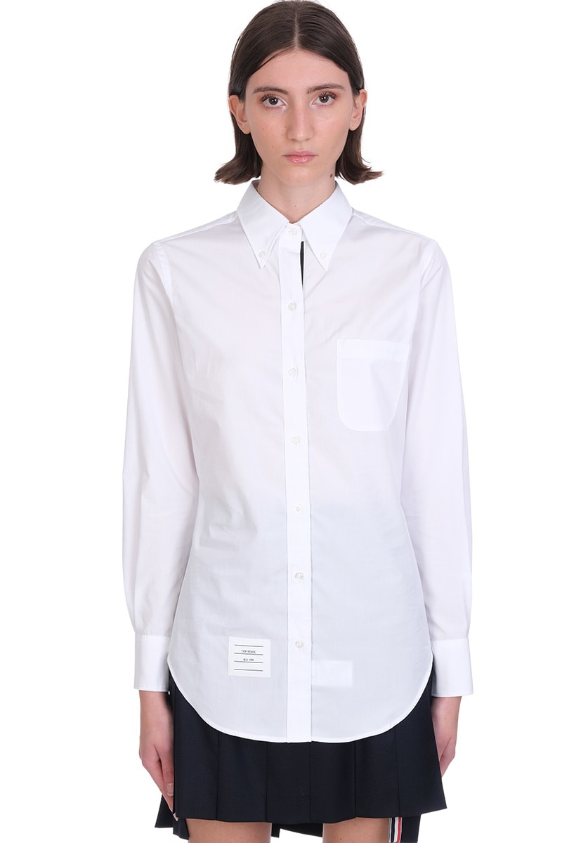 Thom Browne SHIRT IN WHITE COTTON