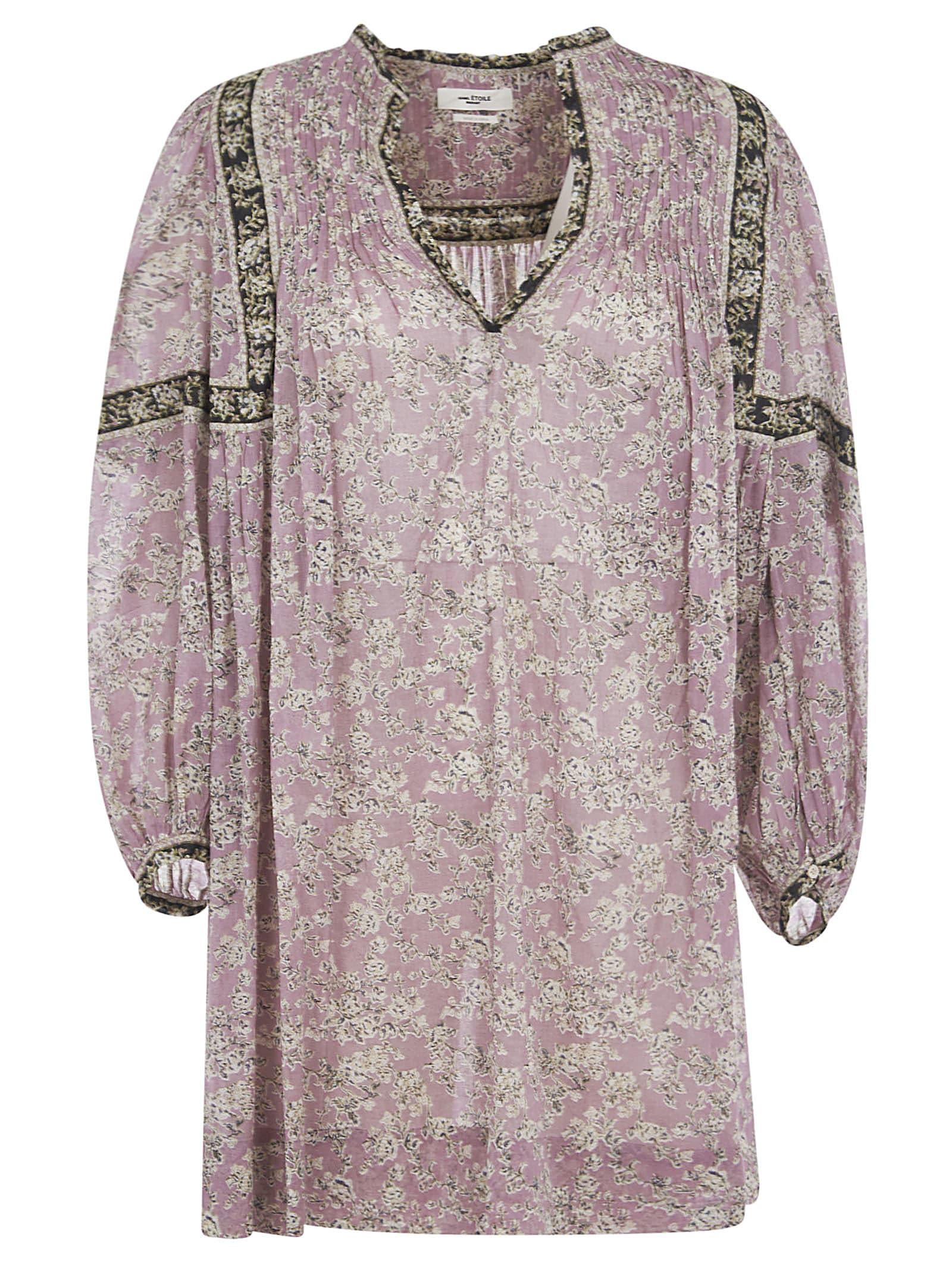 Buy Isabel Marant Étoile Open Placket Short Dress online, shop Isabel Marant Étoile with free shipping