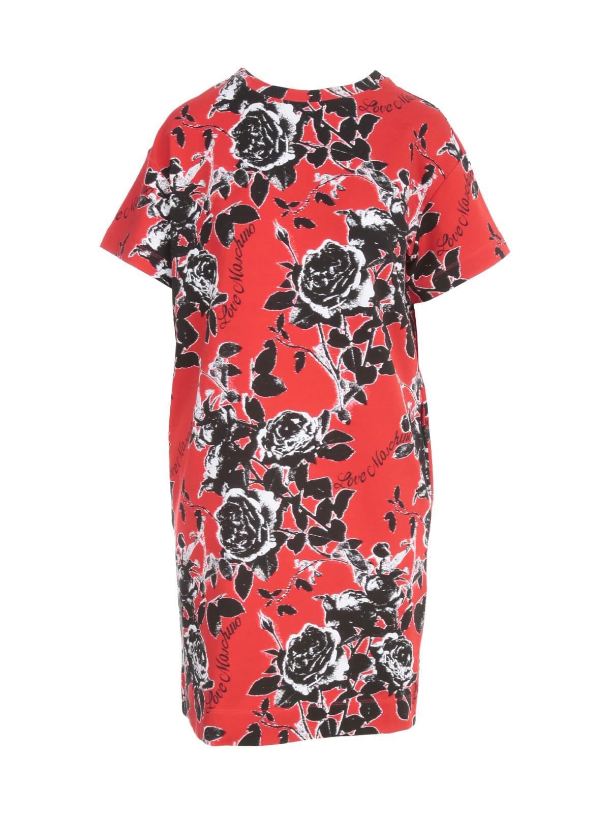 Love Moschino Fantasy Flowers S/s Dress