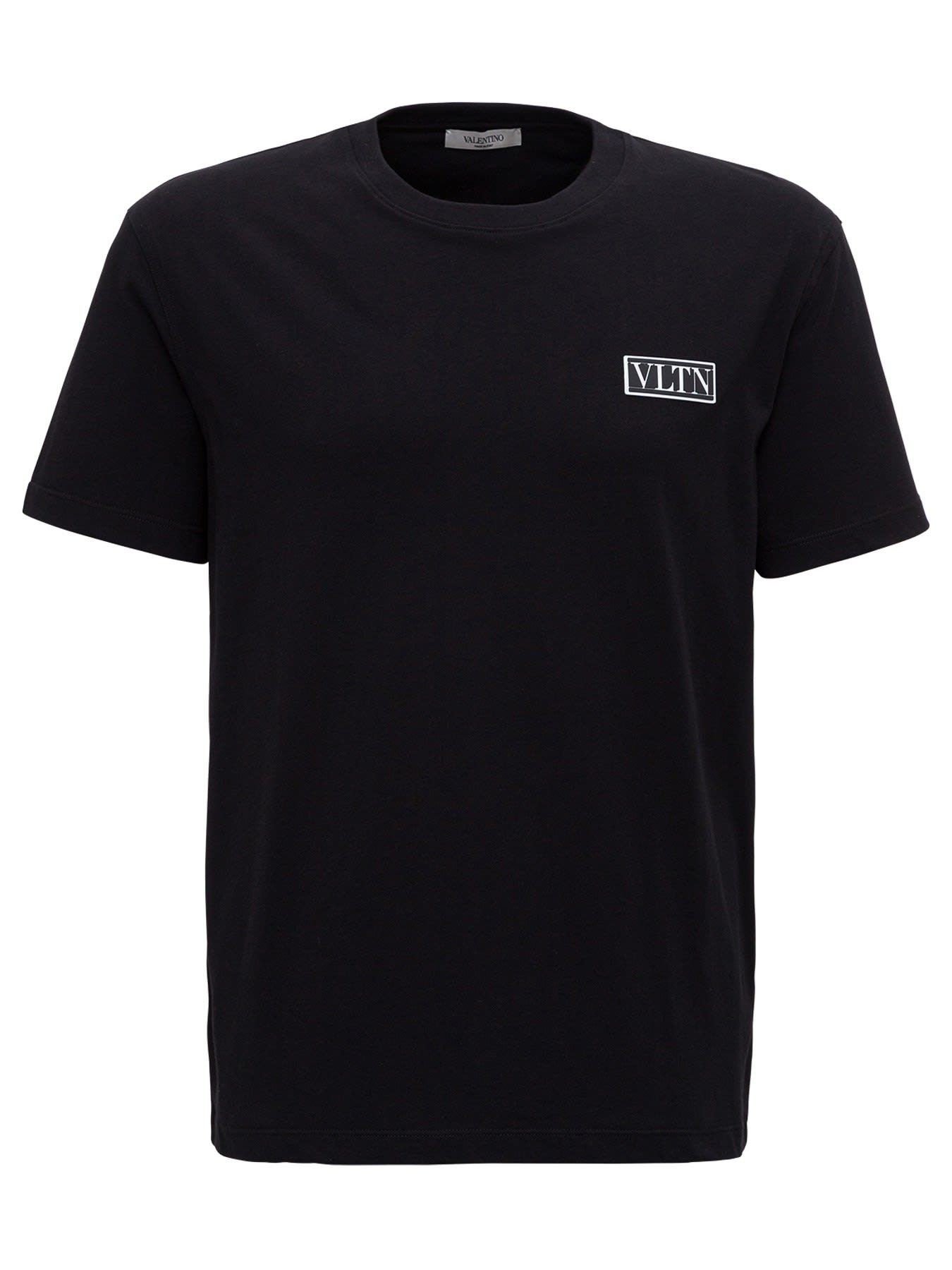 Valentino Tee With Logo Patch Vltn