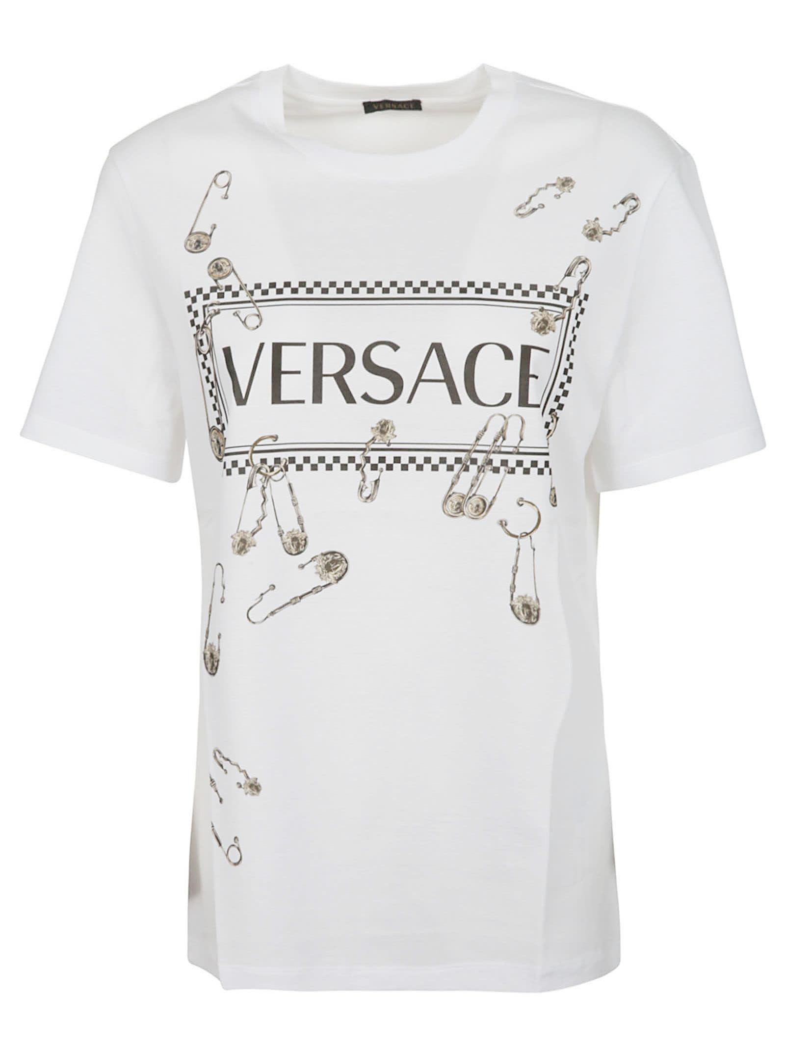 b2fbbb02 Versace Printed Cotton T-shirt