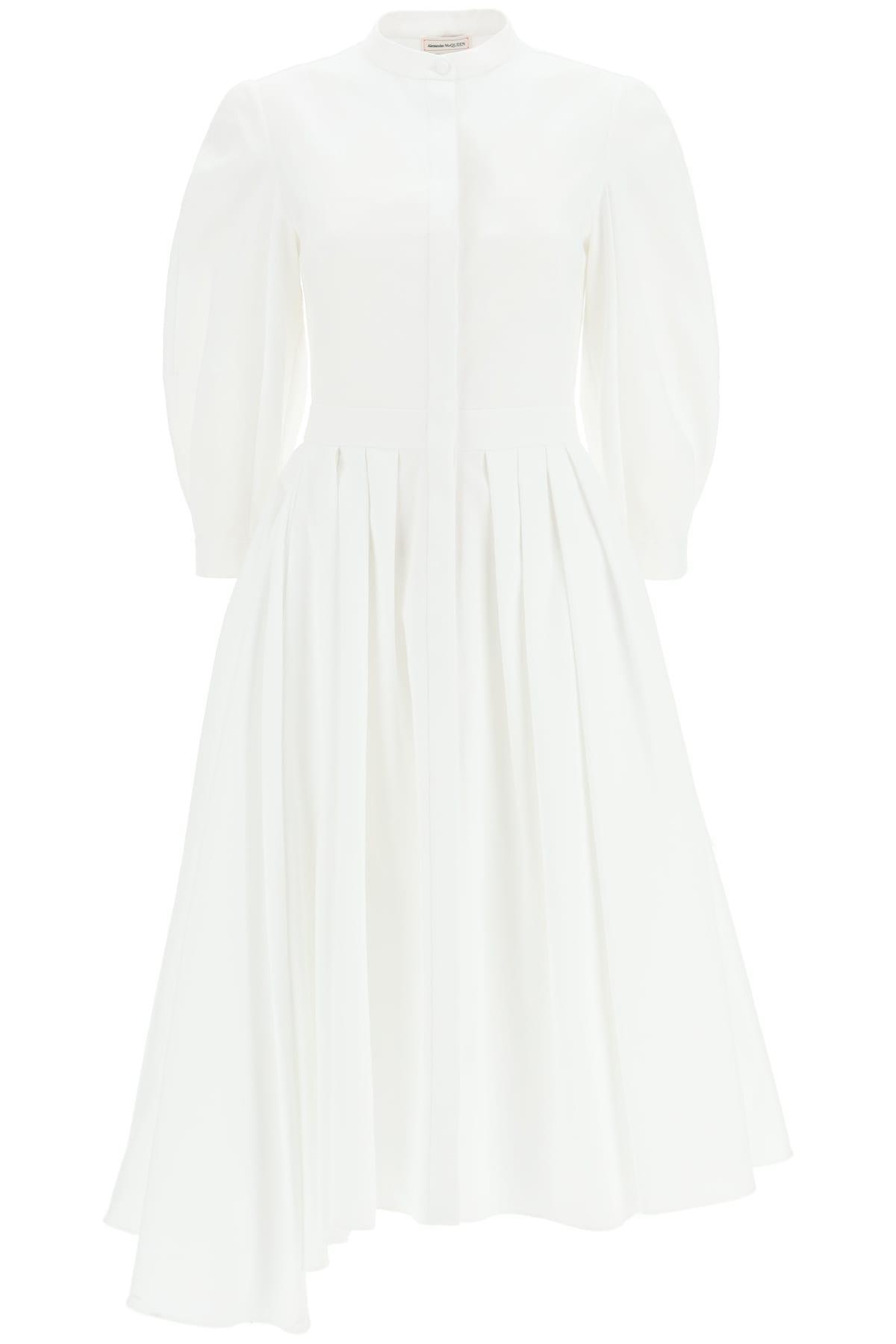 Asymmetrical Dress In Cotton Piquet