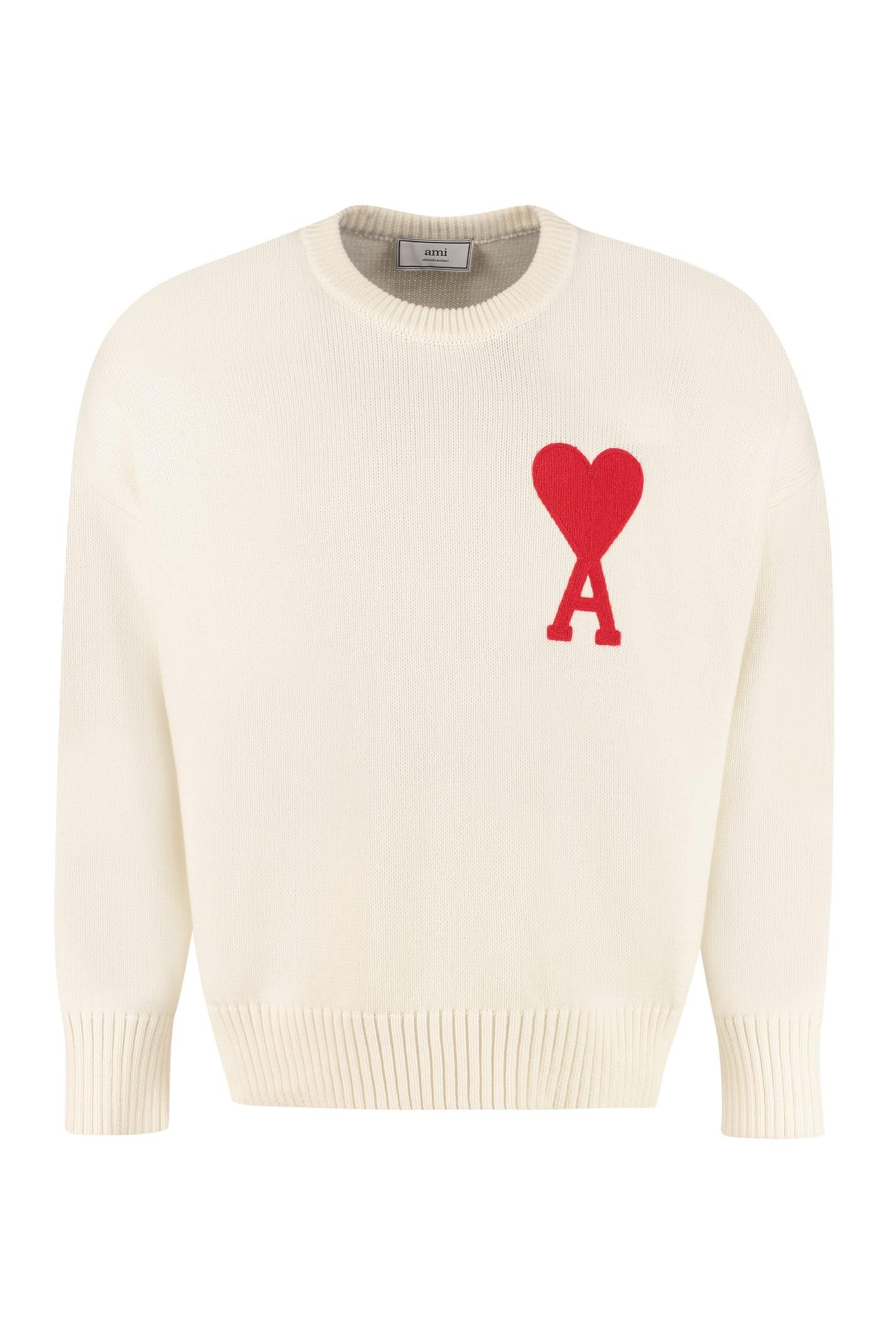 Ami Alexandre Mattiussi Cotton Blend Crew-neck Sweater