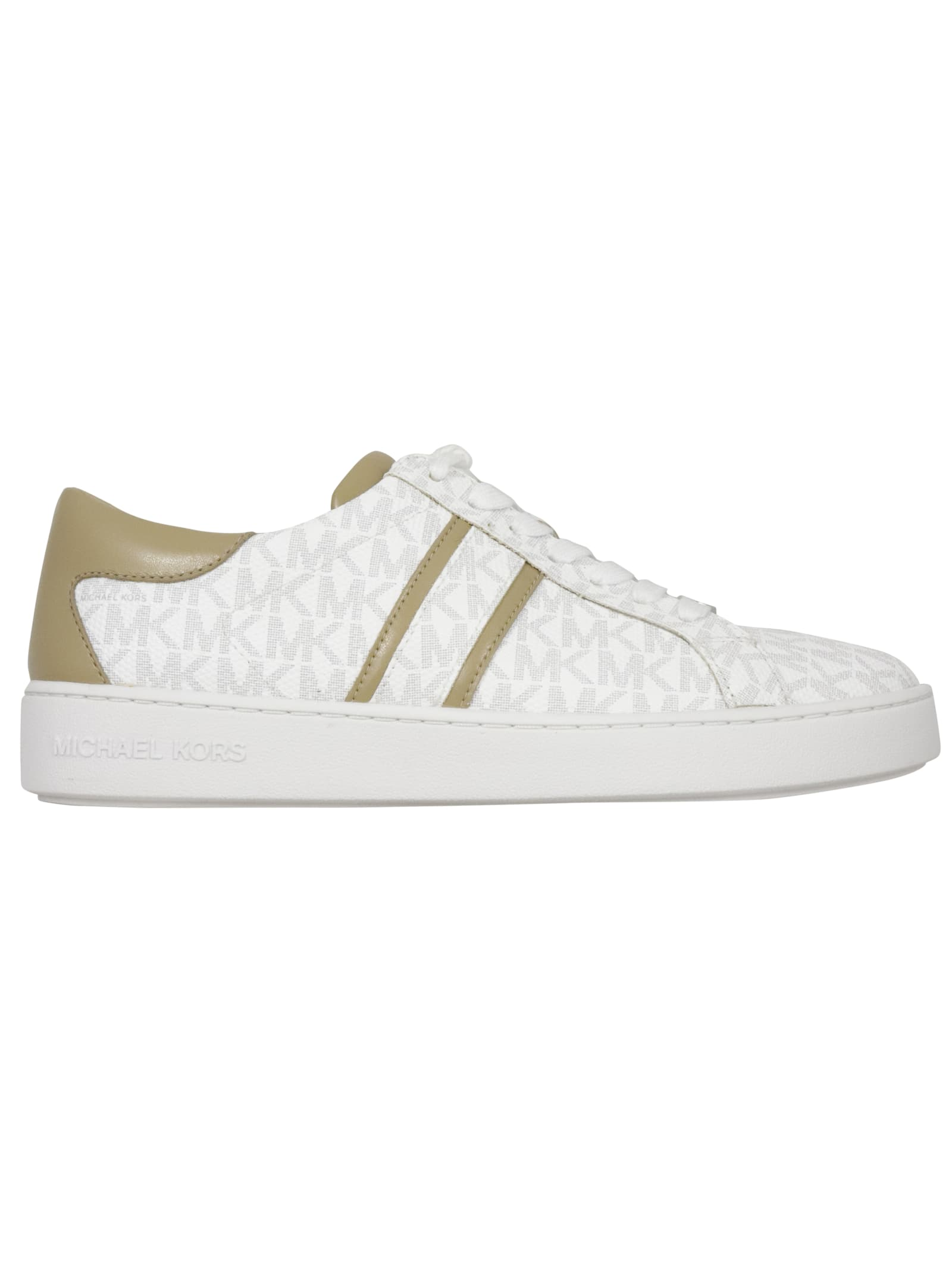MICHAEL KORS Leathers KEATON STRIPE LACE UP SNEAKER