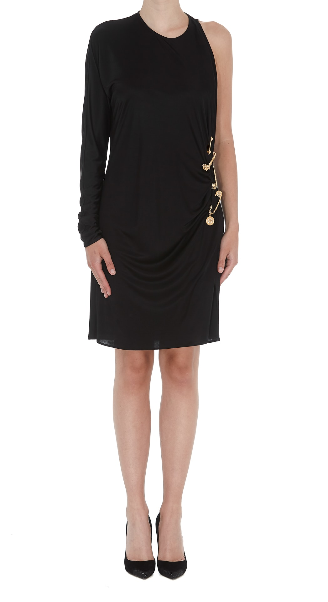 Photo of  Versace Cocktail Dress With Medusa Safety Pin Details- shop Versace  online sales