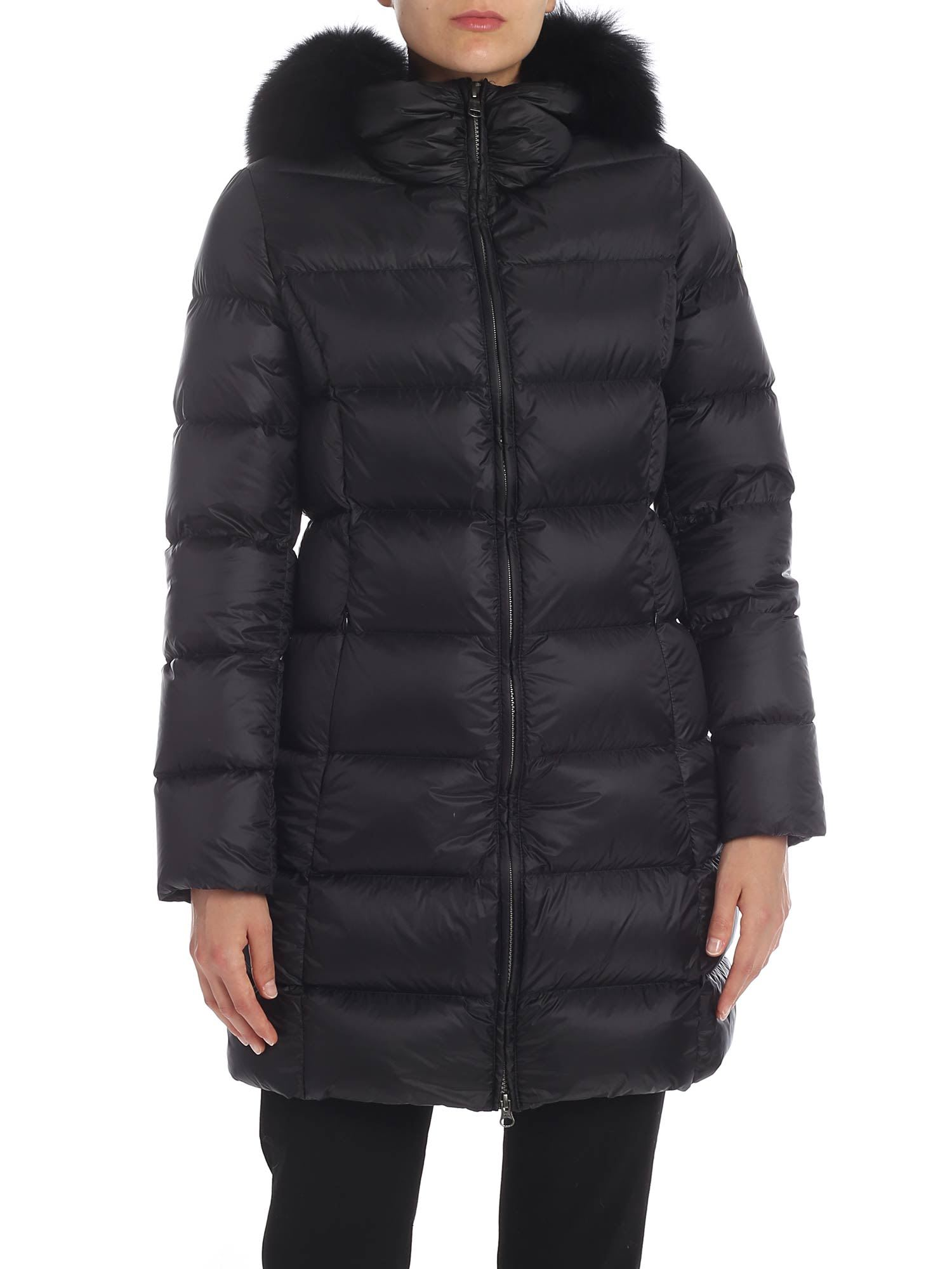 Colmar Nylon Down Jacket With Fur Insert