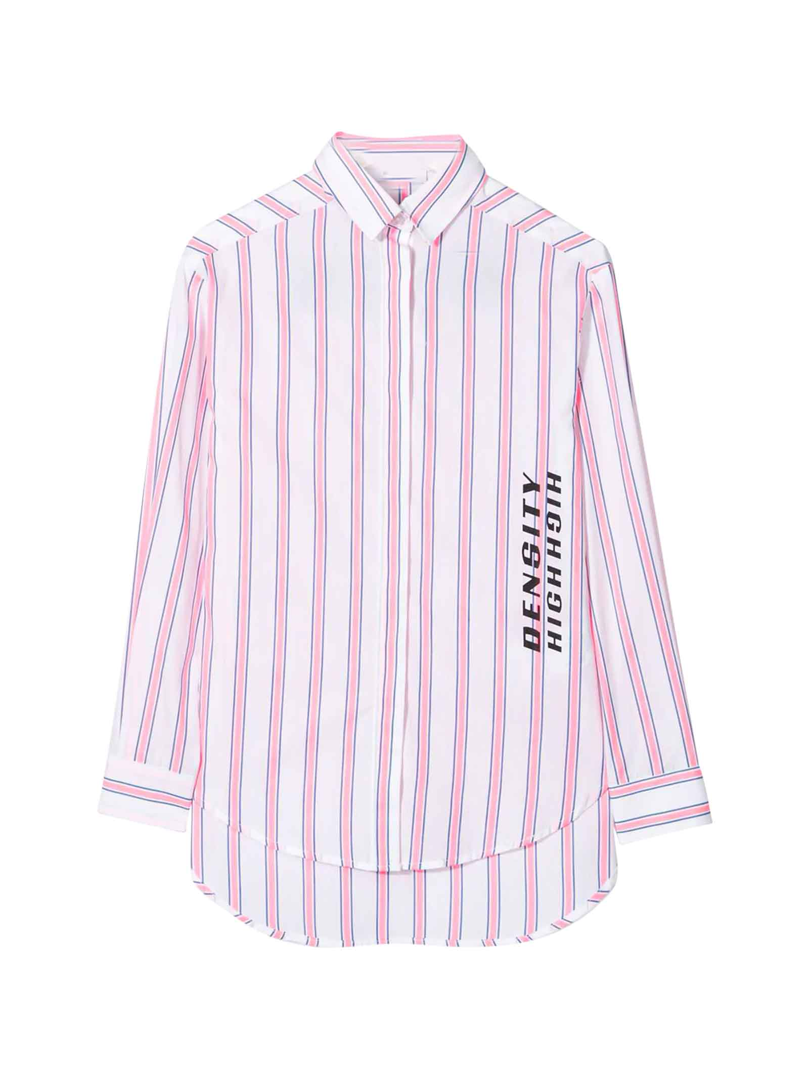 Buy MSGM White Striped Dress online, shop MSGM with free shipping